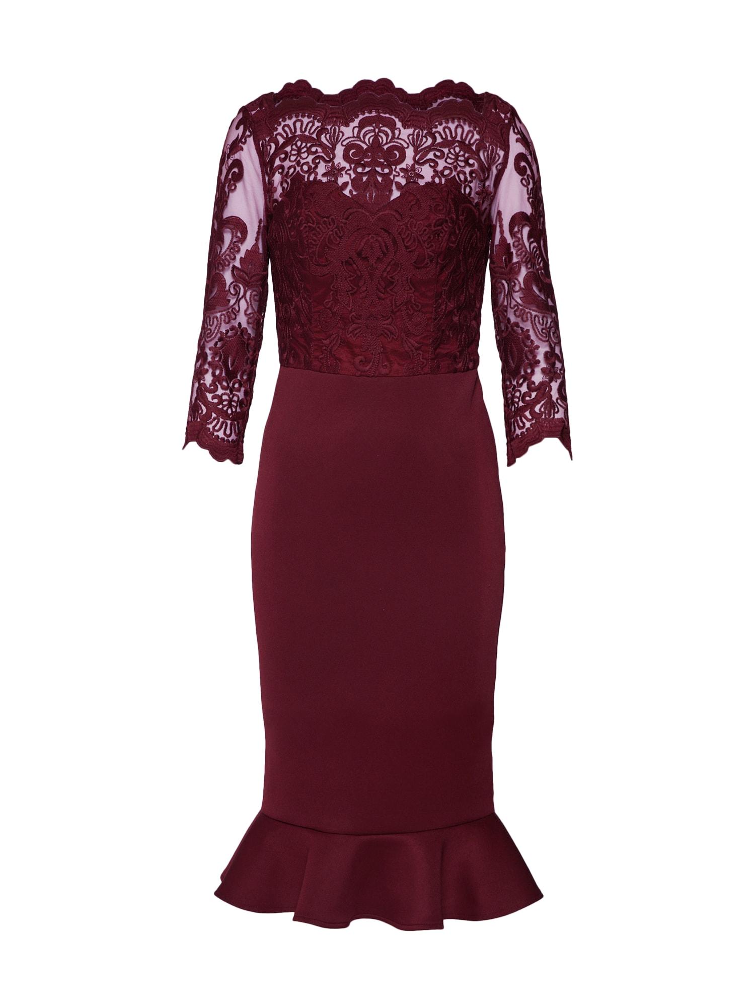 Chi Chi London Sukienka koktajlowa 'ROMAINE'  bordowy