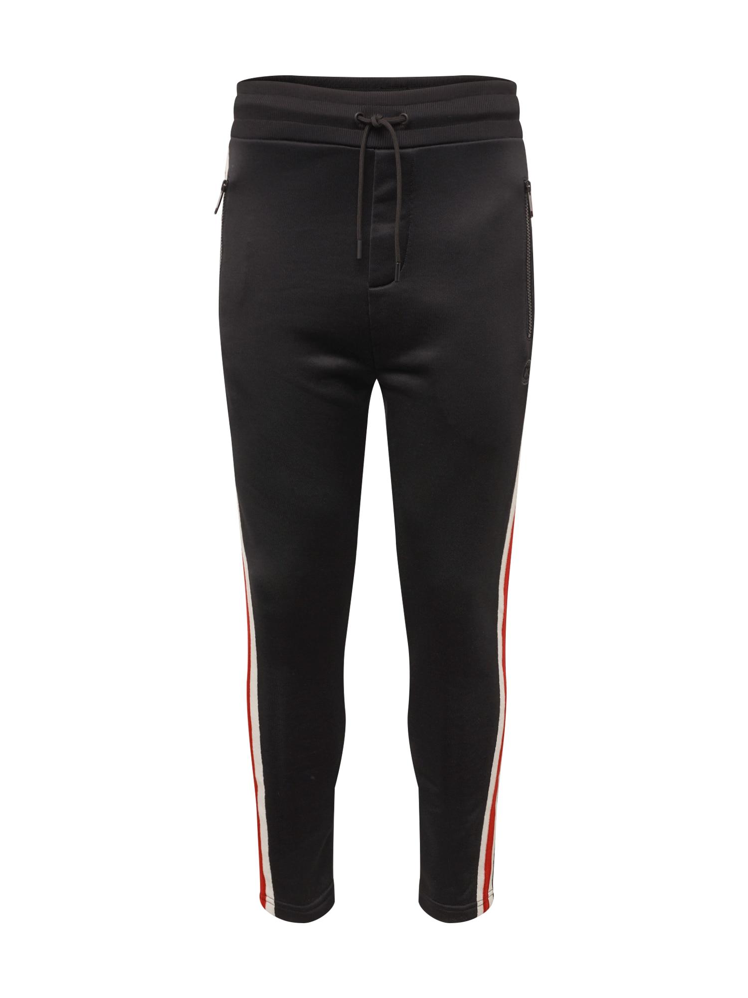 Kalhoty červená černá bílá The Kooples