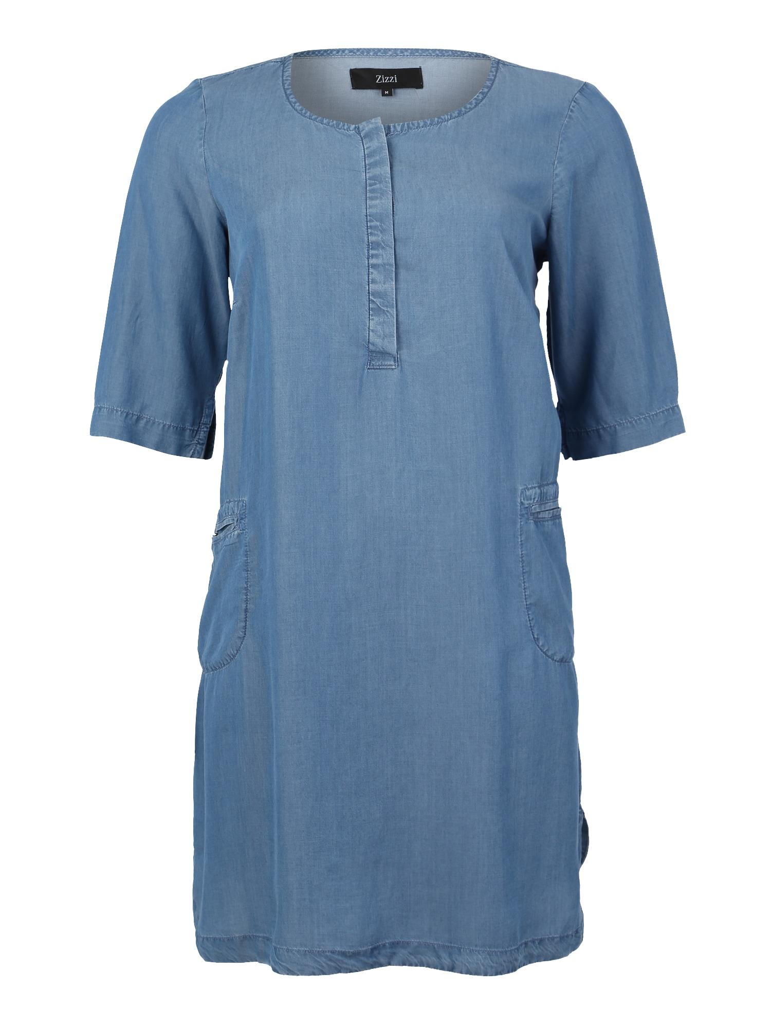 Šaty JEMILY modrá džínovina Zizzi