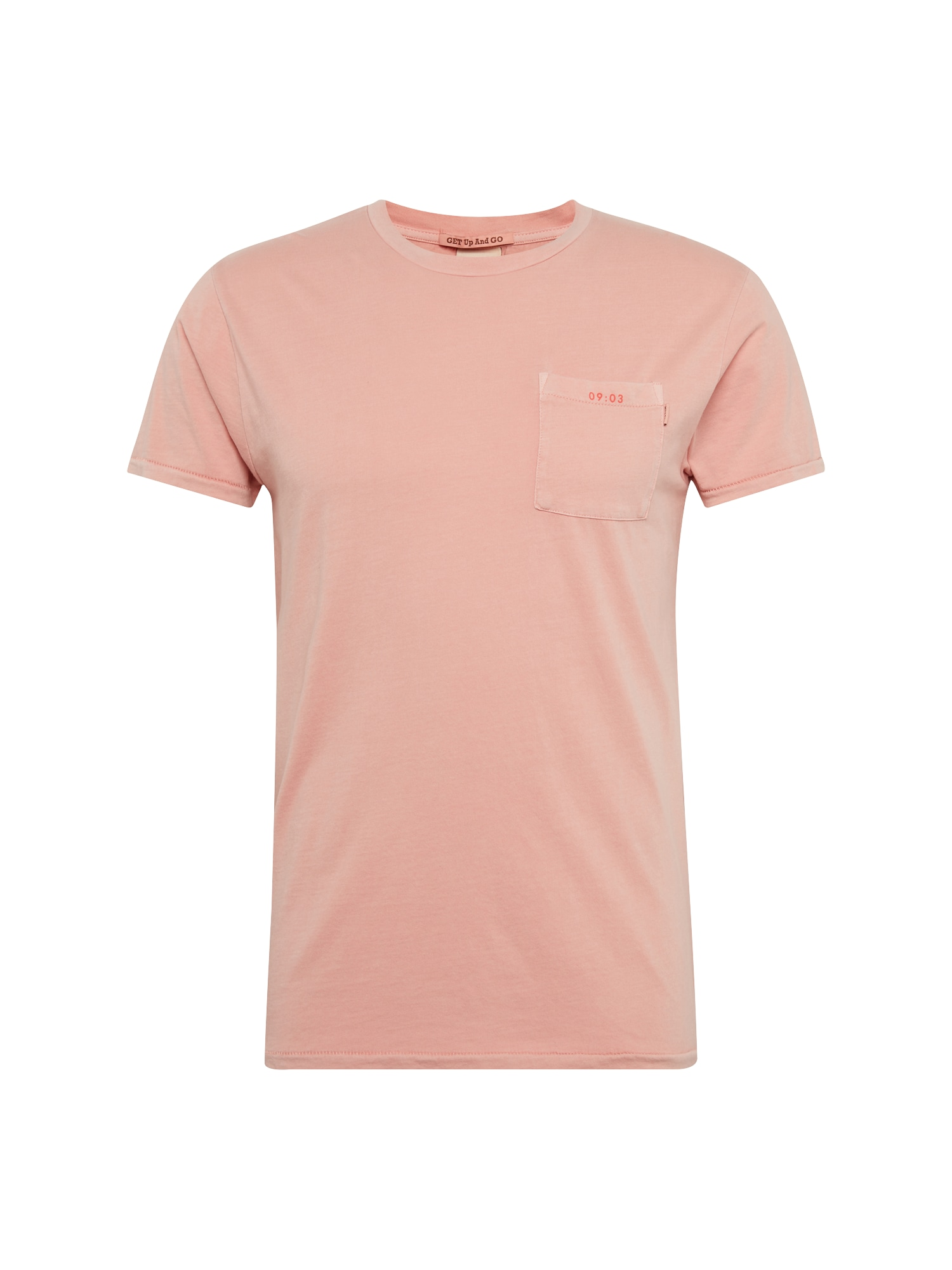 SCOTCH  and  SODA Heren Shirt Garment-dyed tee with chest pocket rosa