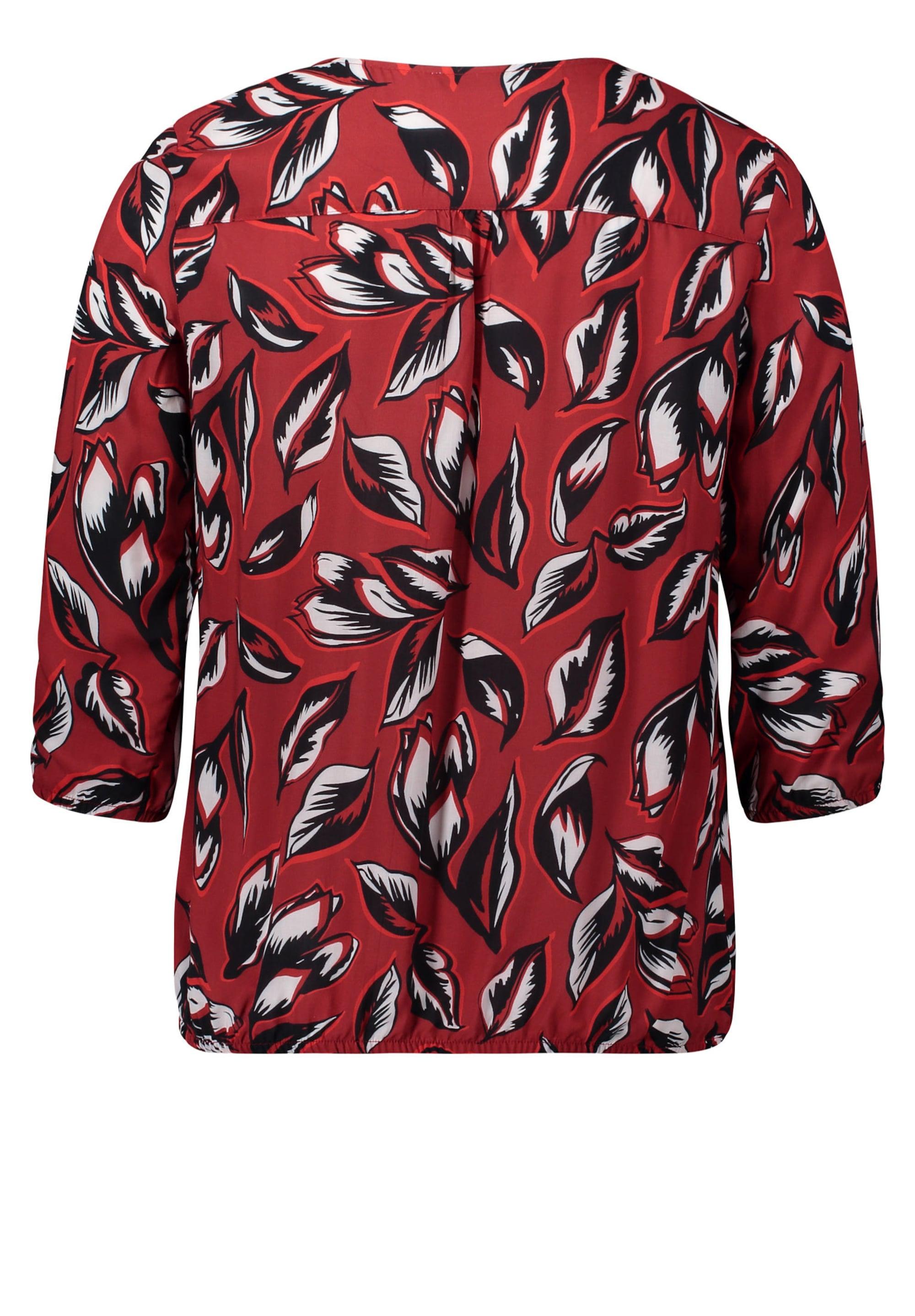 Betty & Co Tunika  karminowo-czerwony / czarny / biały