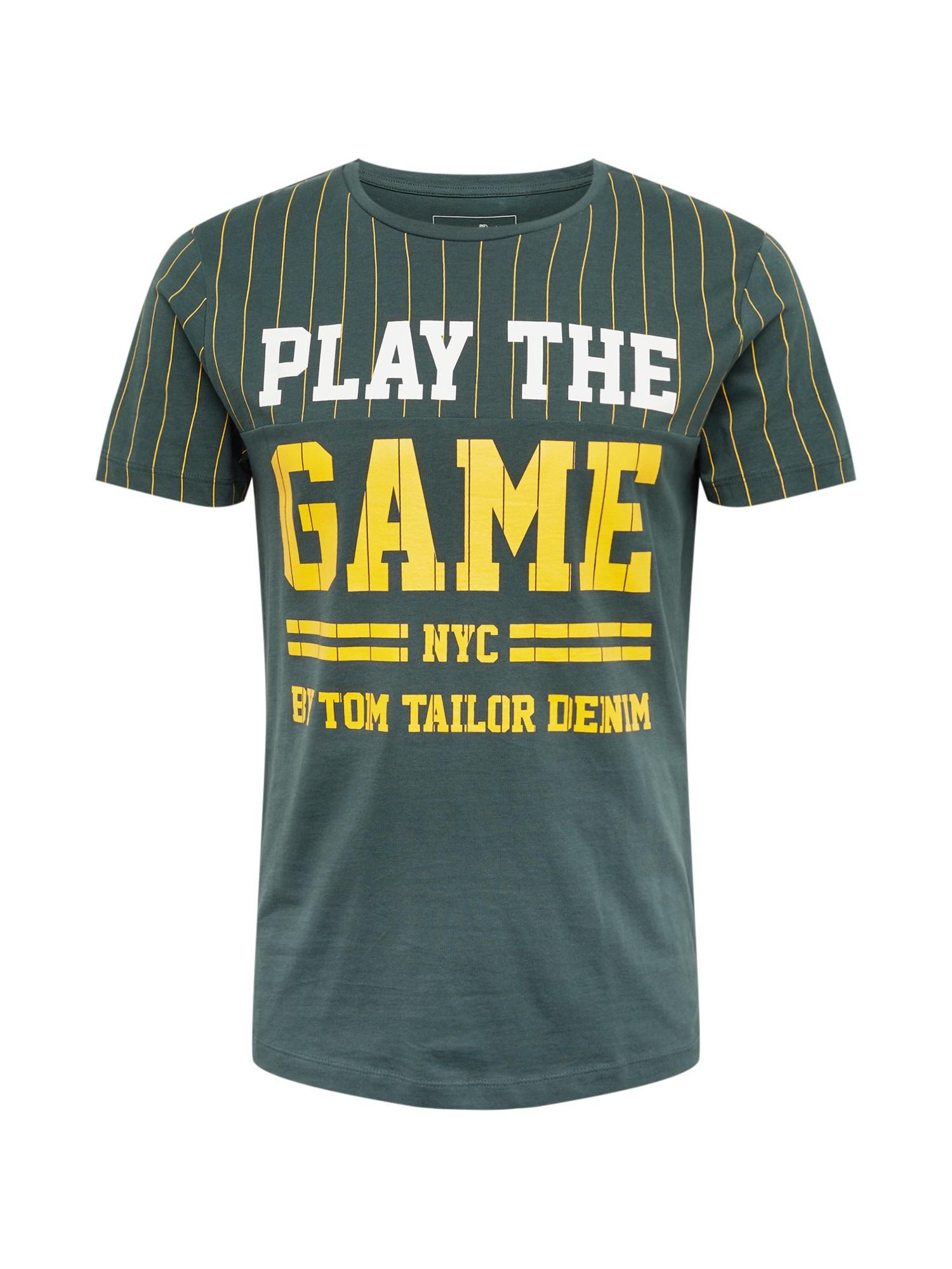 Tričko žlutá tmavě zelená TOM TAILOR DENIM