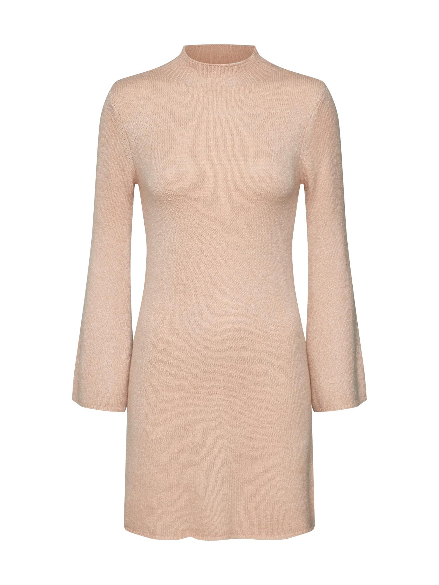 Úpletové šaty TASH béžová Bardot