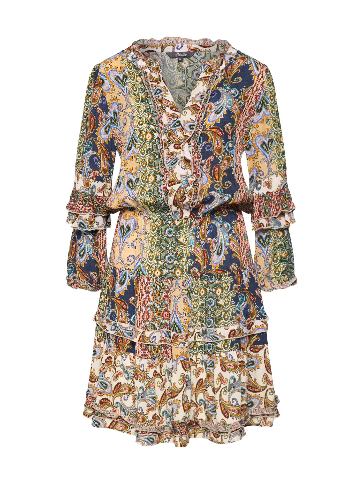 PRINCESS GOES HOLLYWOOD Letní šaty 'Viva paisley volant dress'  béžová / mix barev