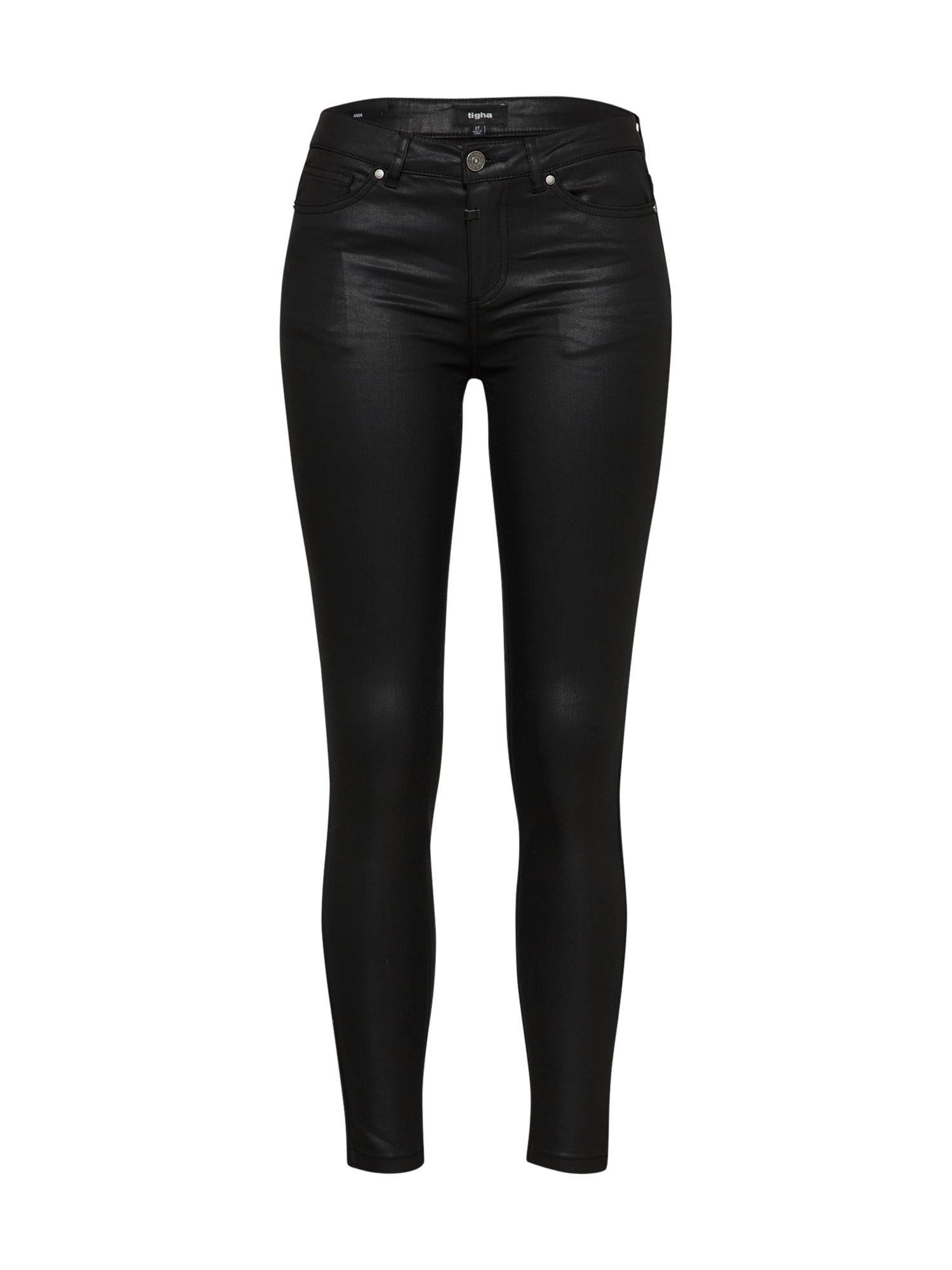 Kalhoty Ania Coated 2 černá Tigha