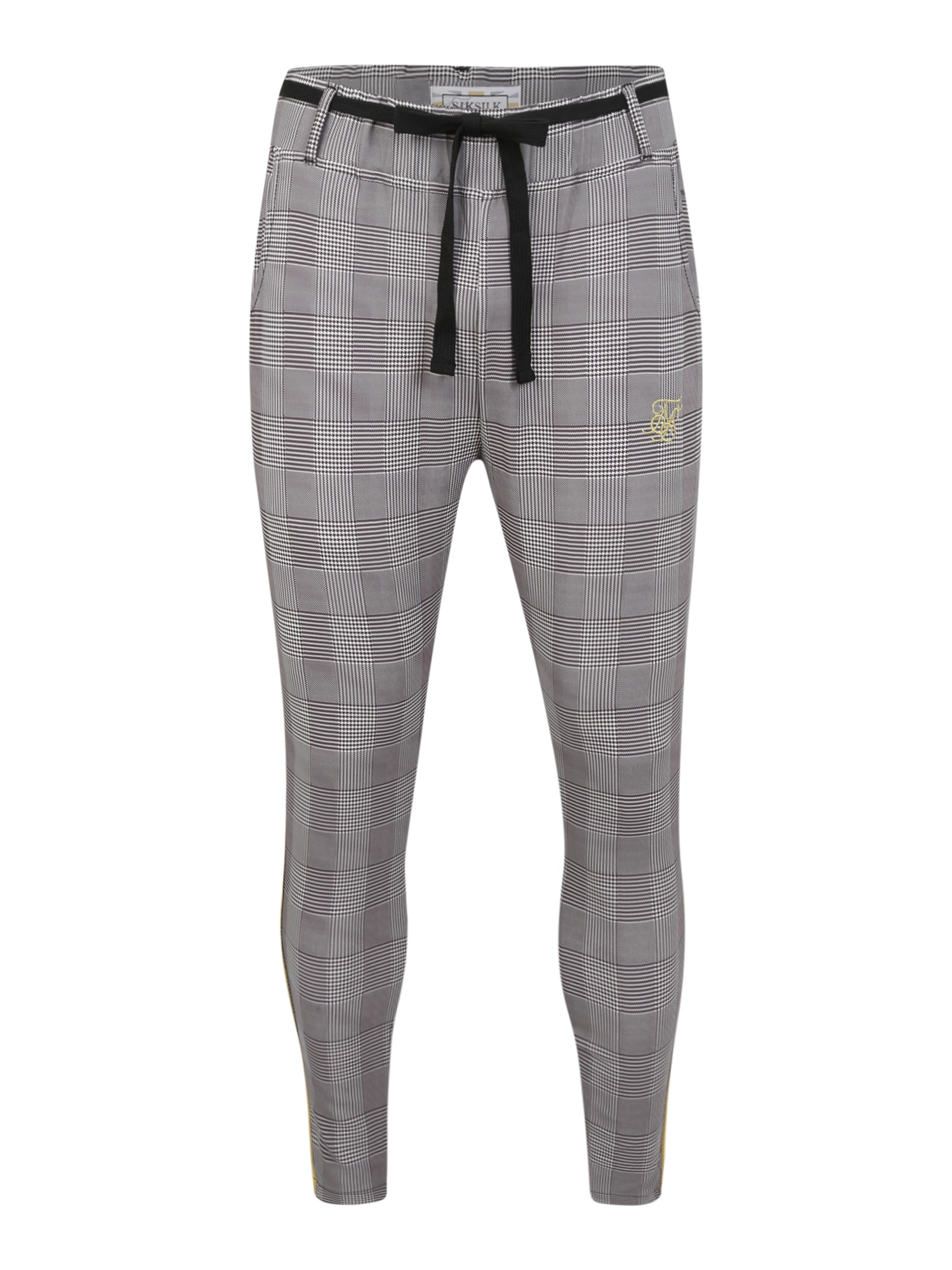 SikSilk Kalhoty  žlutá / šedá