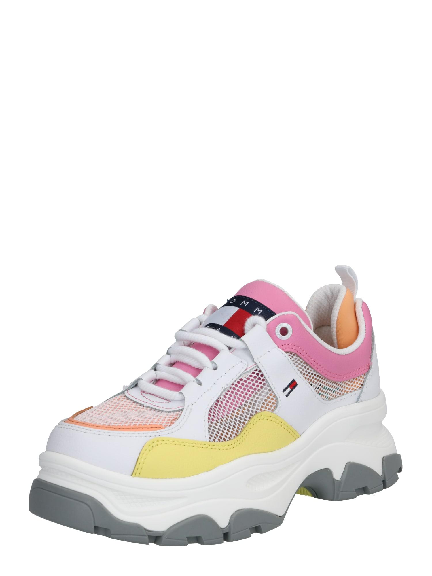 Tommy Jeans Nízke tenisky  žlté / biela / ružová