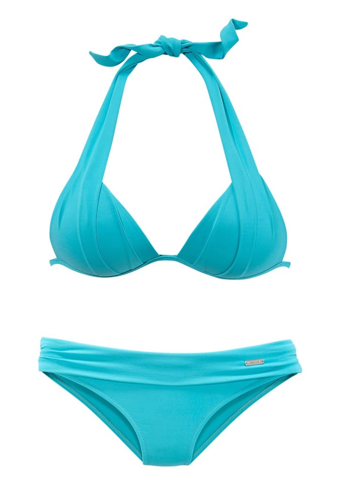 Bikiny azurová modrá svítivě modrá LASCANA