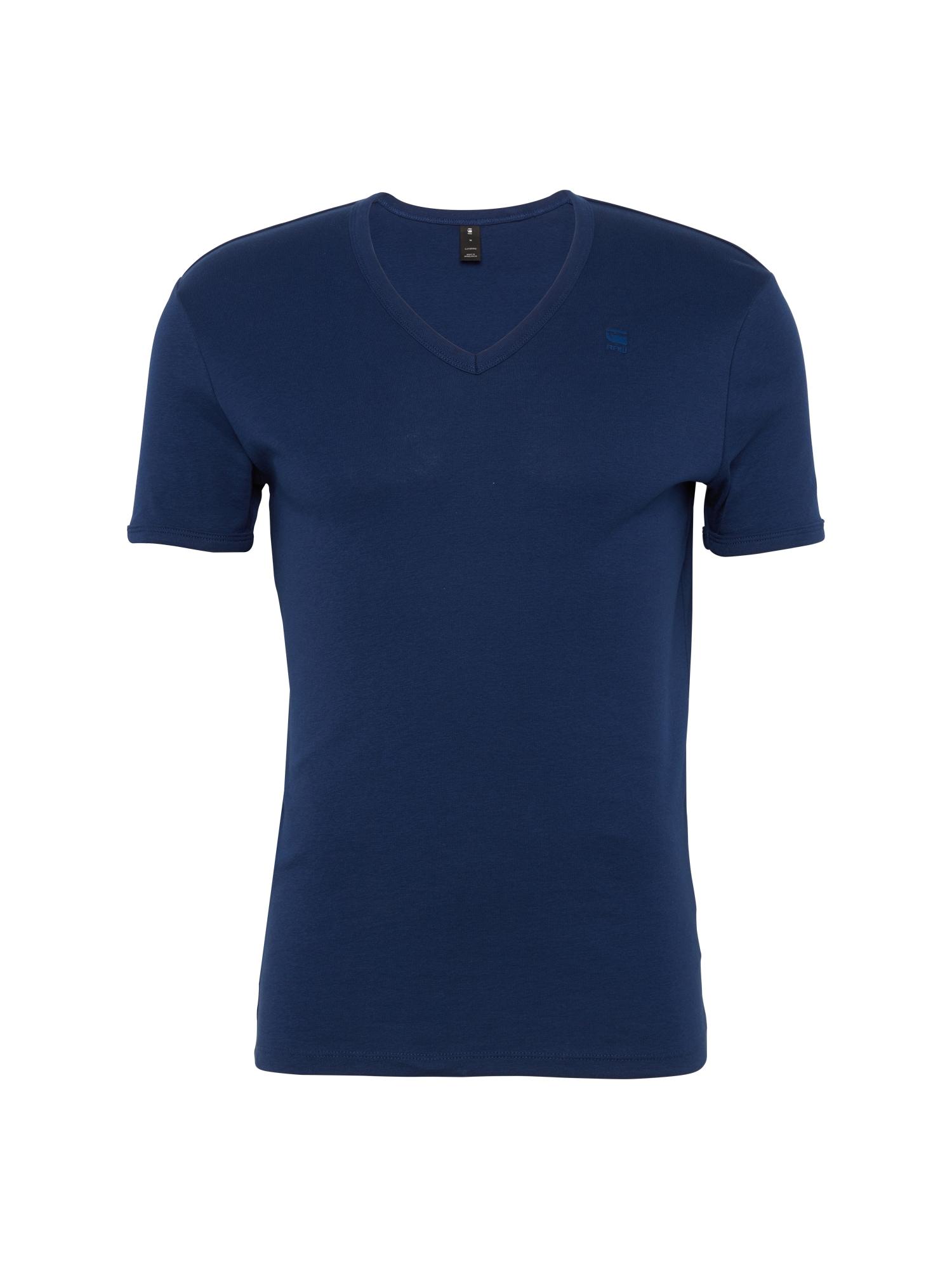 G-STAR RAW Heren Shirt Base V T blauw