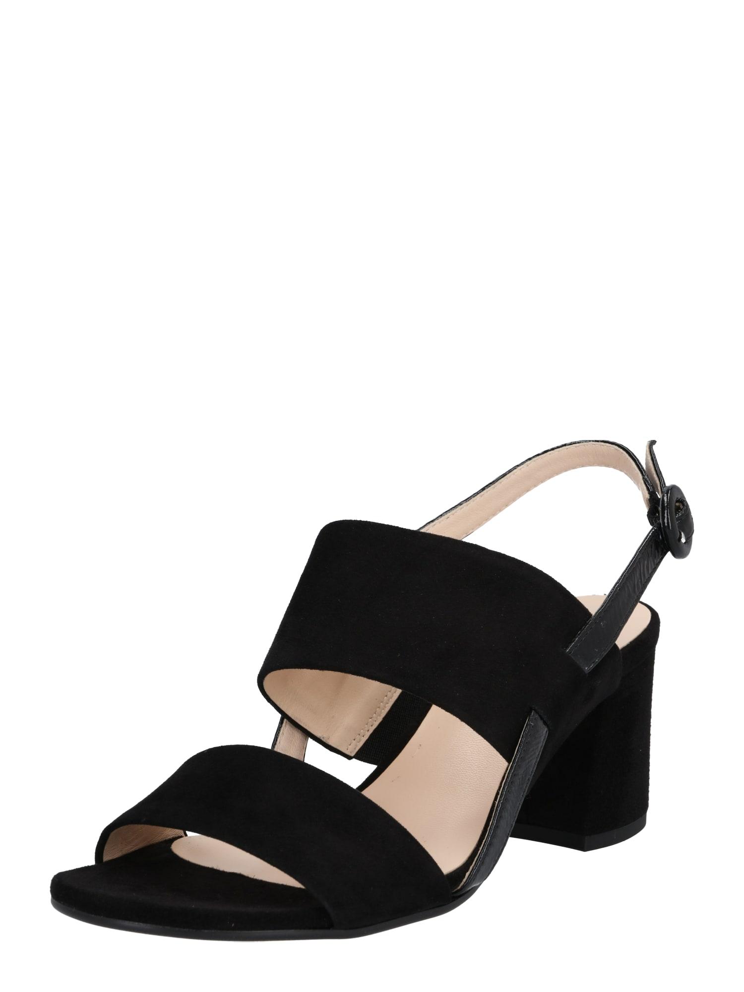 Páskové sandály černá Högl
