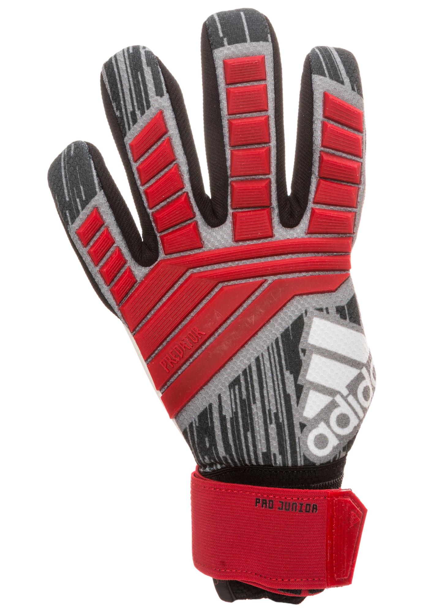 ADIDAS PERFORMANCE, Meisjes Sporthandschoenen 'Predator Pro', rood / zwart / wit