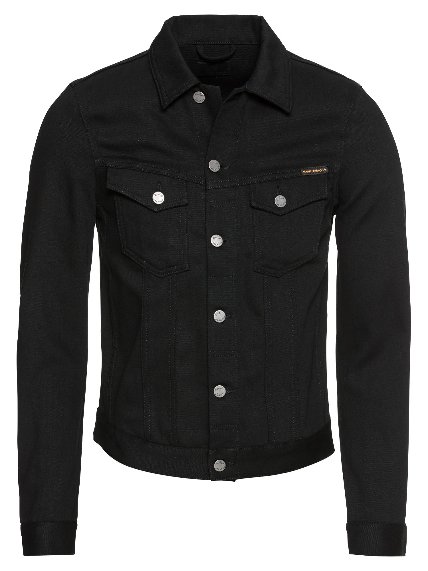 Přechodná bunda Billy černá džínovina Nudie Jeans Co