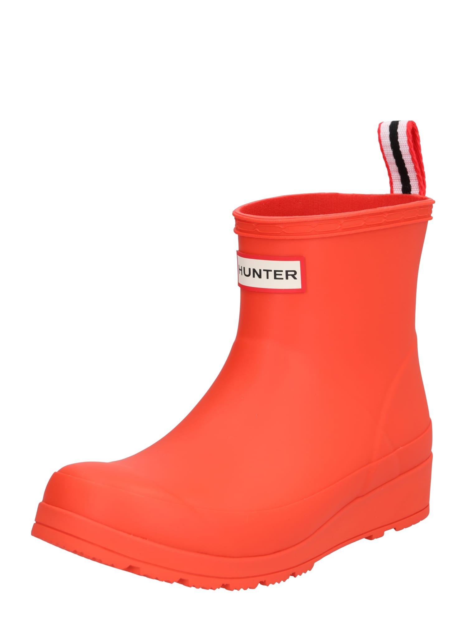 Holínky Play námořnická modř červená oranžově červená bílá HUNTER