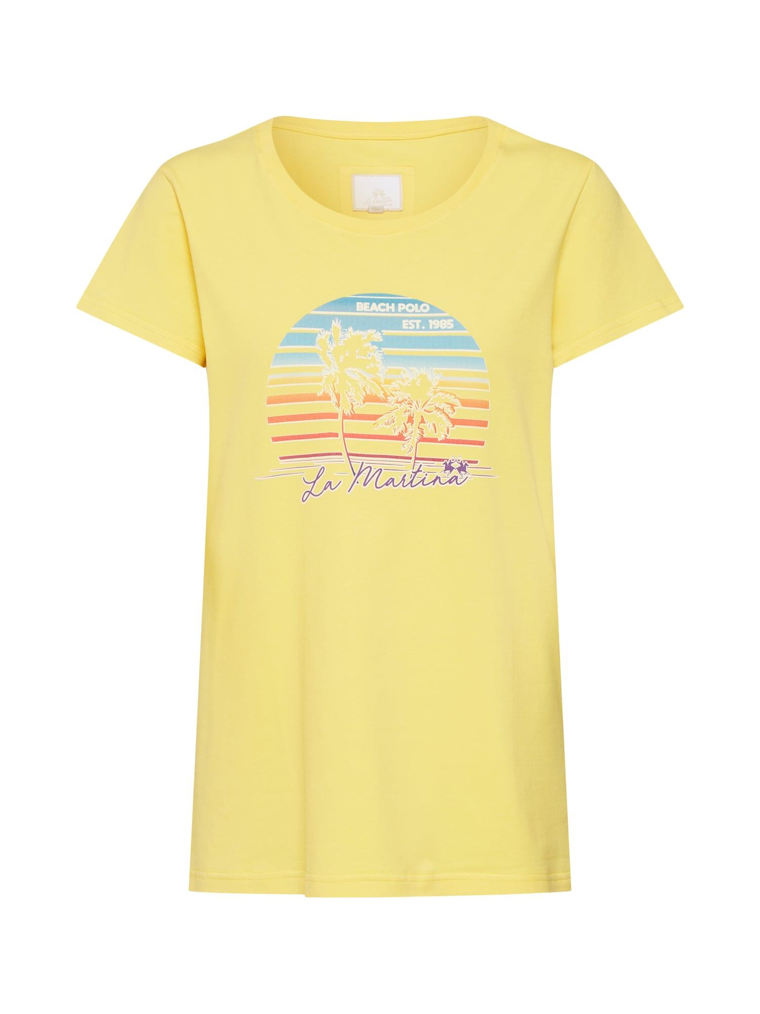 Tričko WOMAN T-SHIRT SSL STRETCH COT žlutá La Martina
