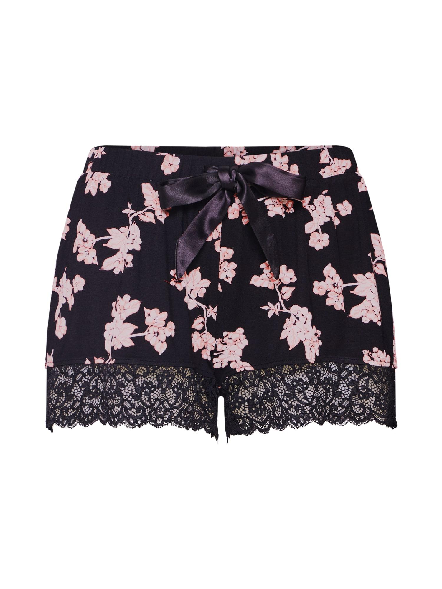 Pyžamové kalhoty Blossom černá Hunkemöller