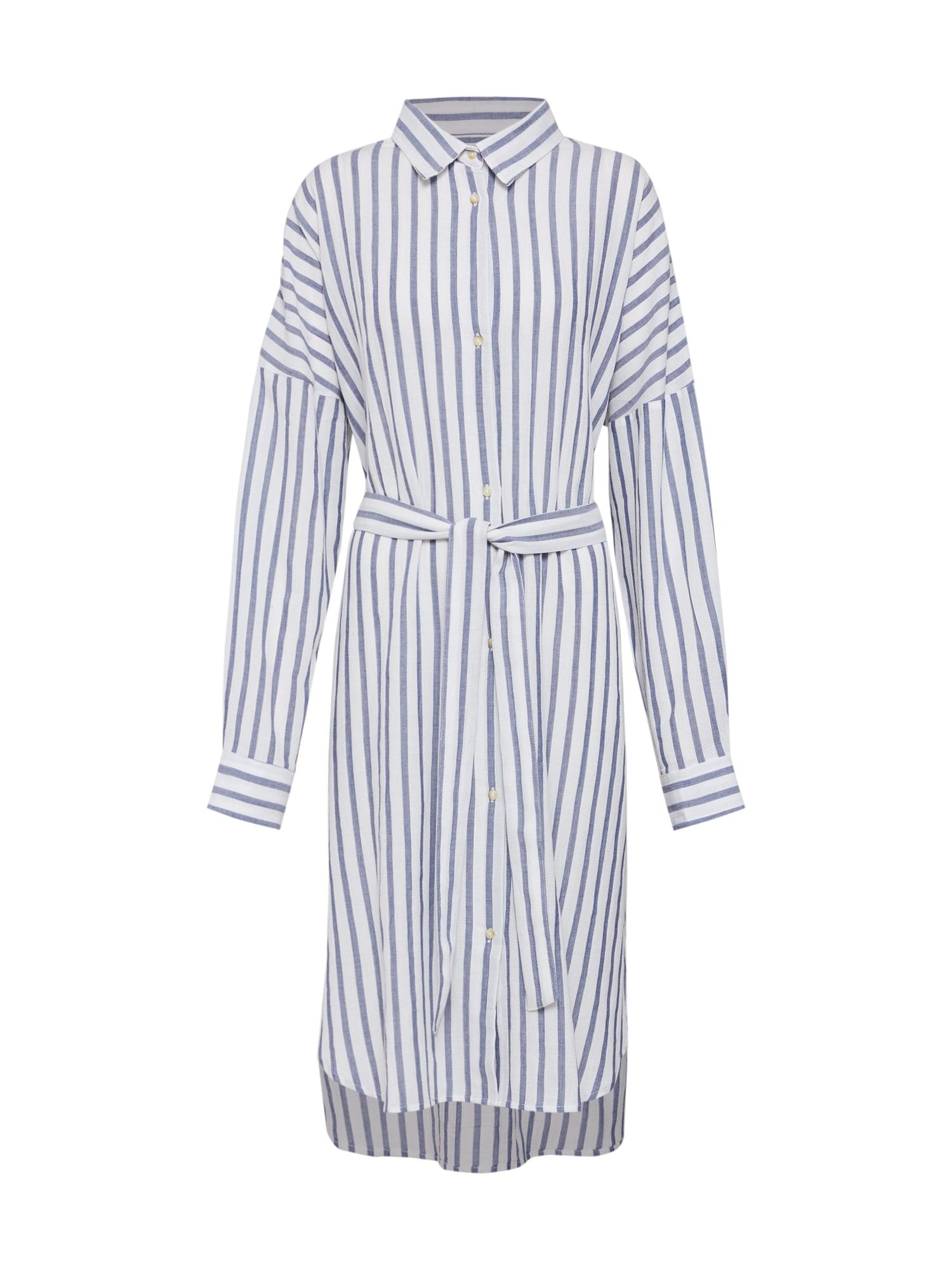 Košilové šaty GINA DRESS indigo bílá ECOALF