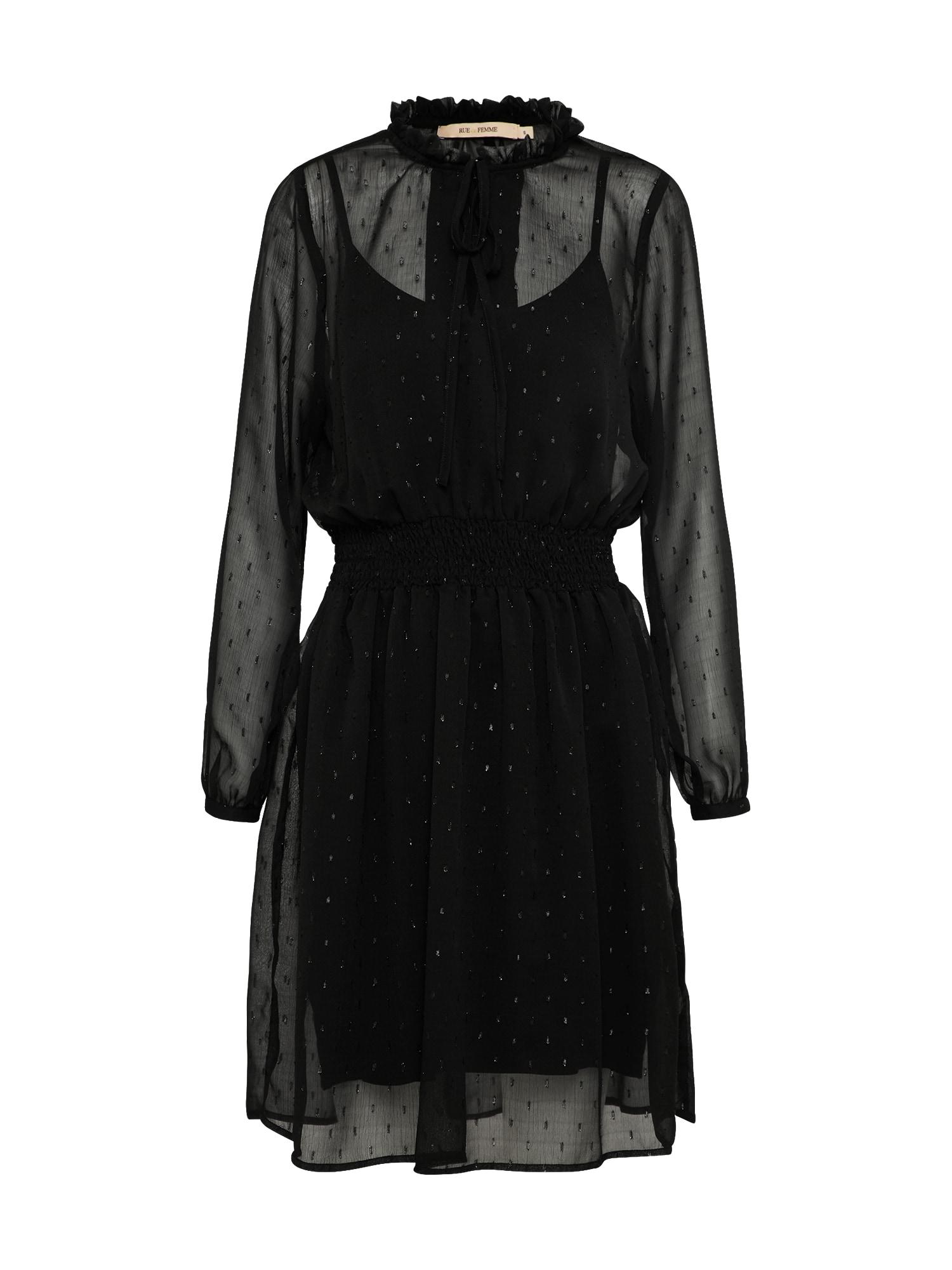 Koktejlové šaty Maja černá RUE De FEMME