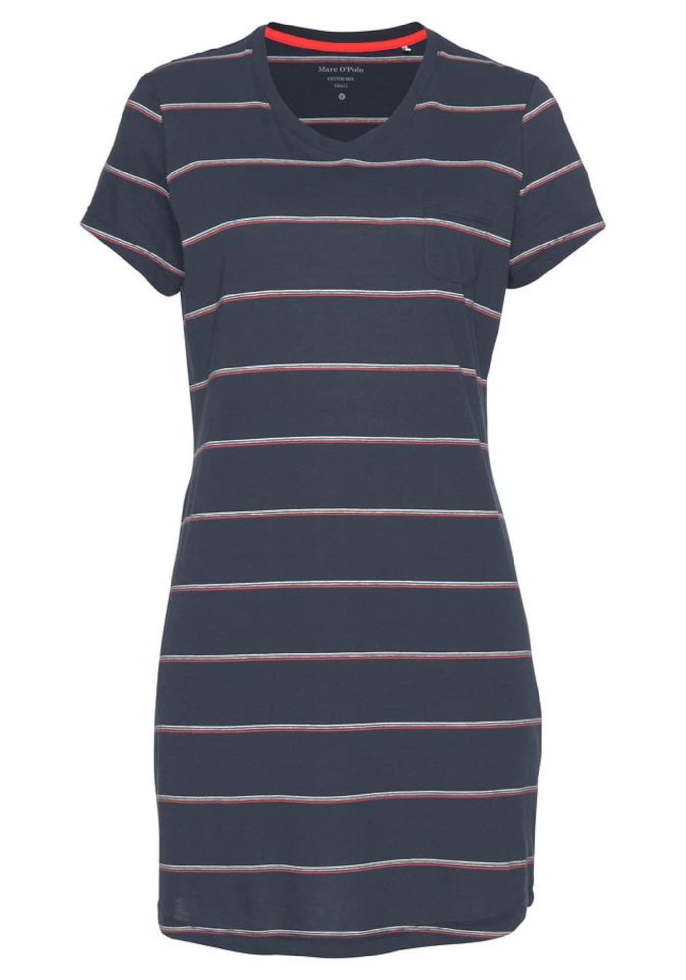Sleepshirt | Bekleidung > Nachtwäsche > Sleepshirts | Rot - Weiß | Marc O'Polo