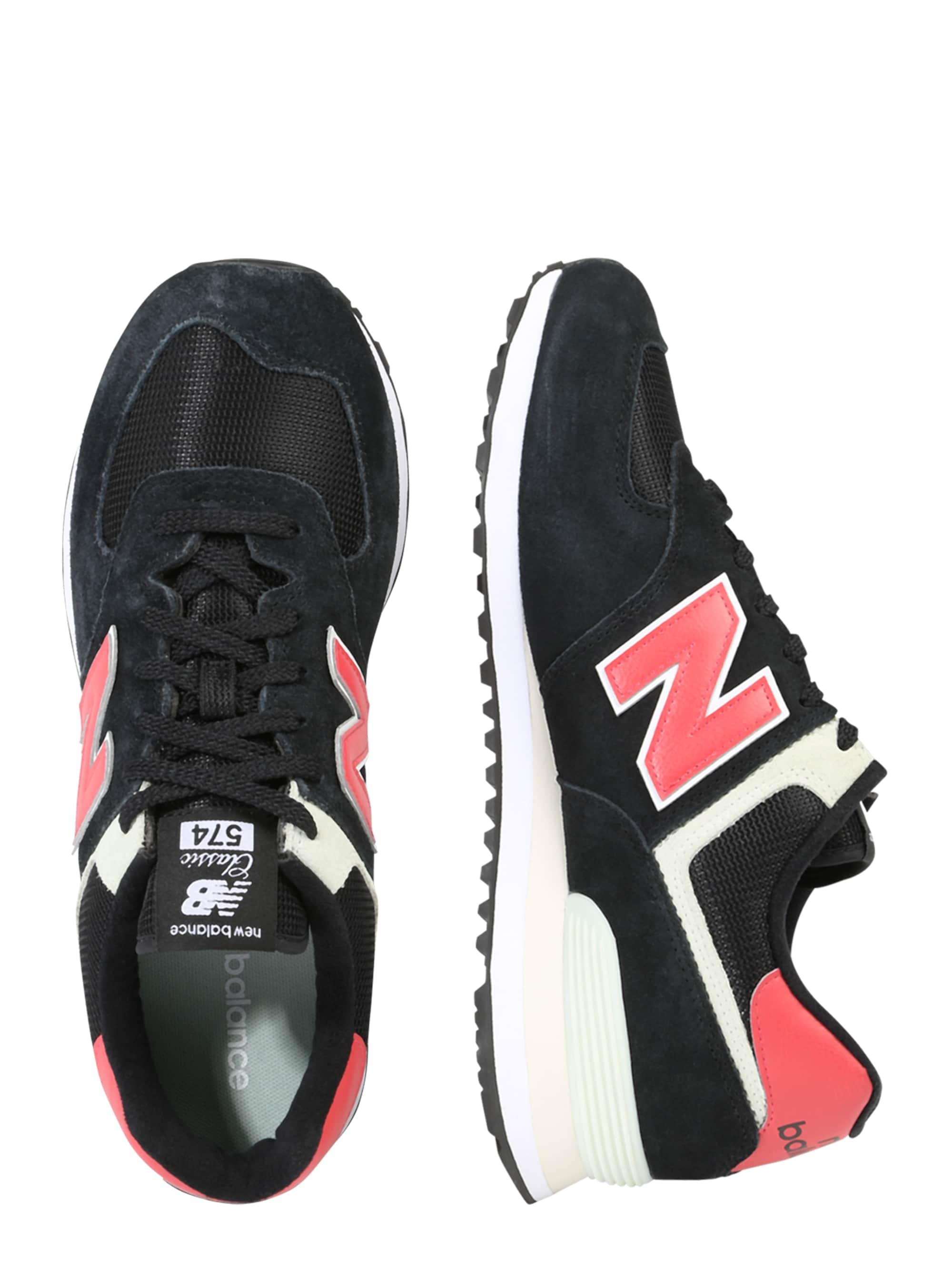 New Balance Trampki niskie 'ML574'  czerwony / czarny