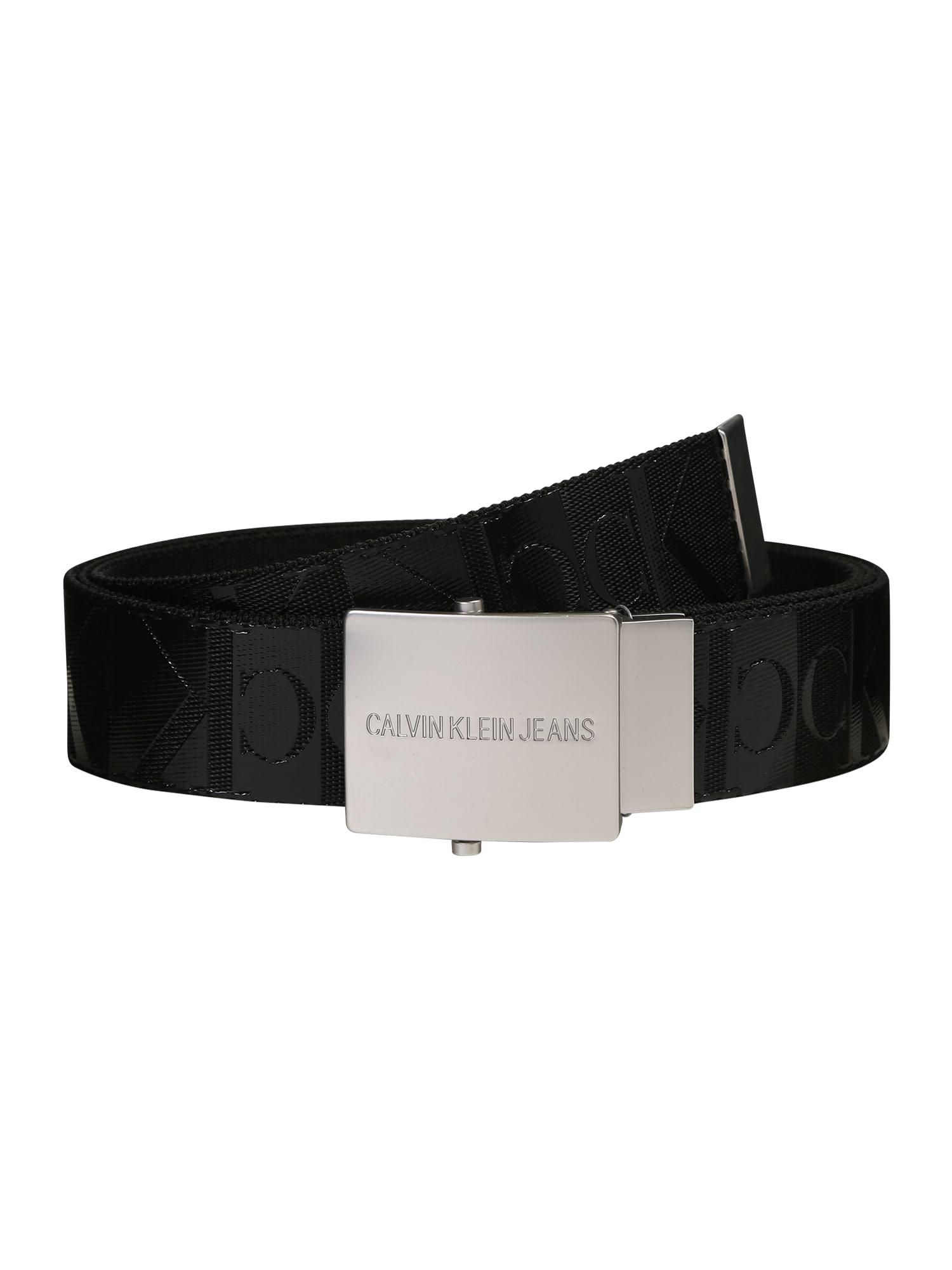 Calvin Klein Jeans Opasek 'PLAQUE'  černá