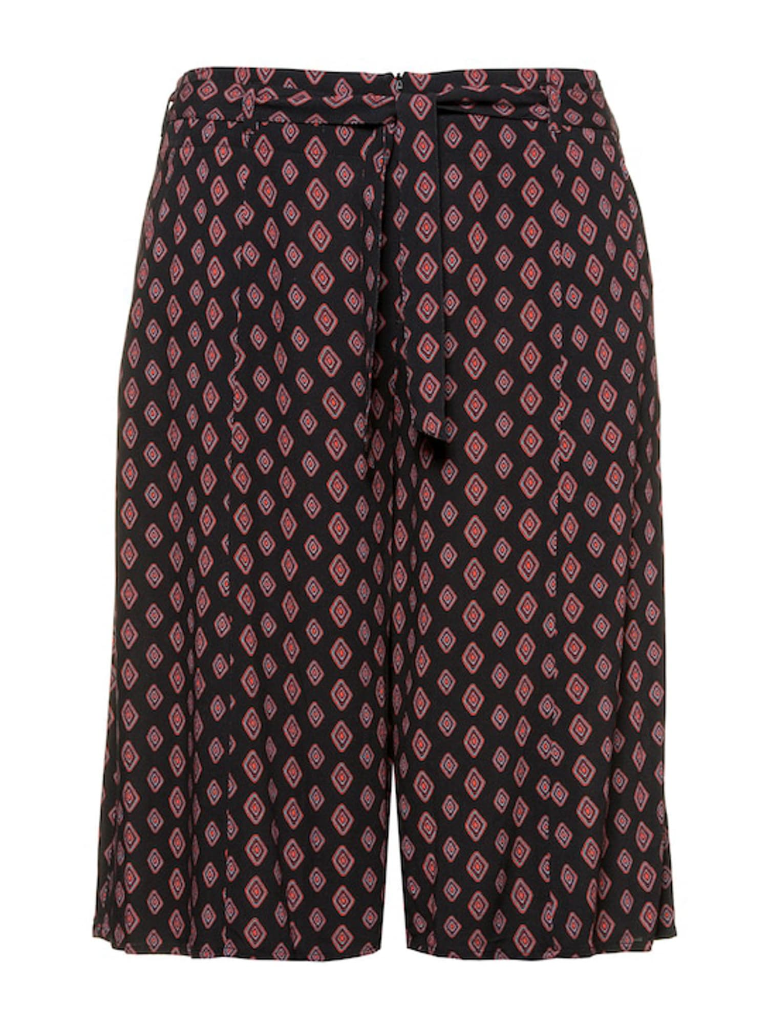 Ulla Popken Kalhoty  černá / červená / mix barev