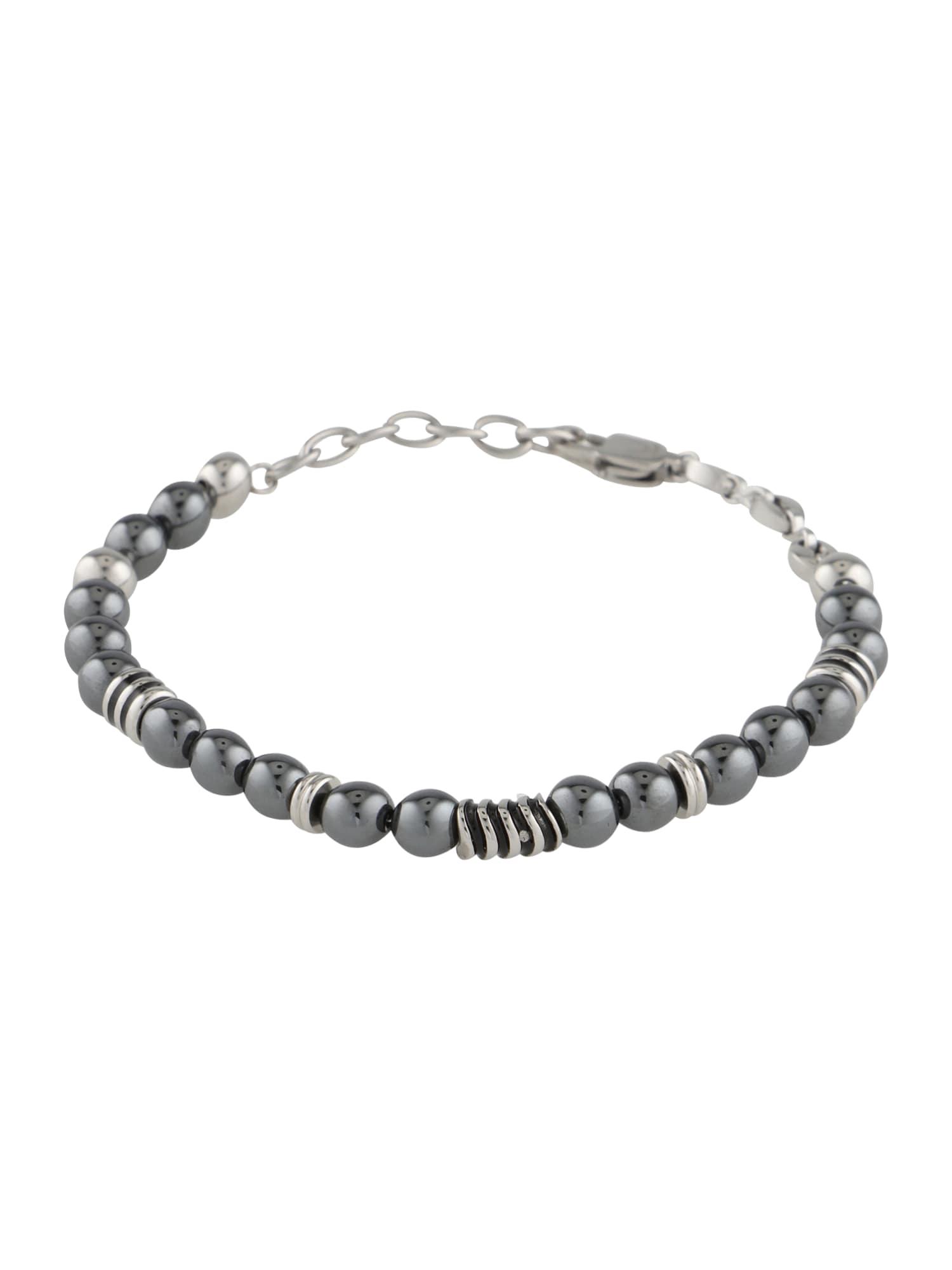 Náramek Bead Bracelet stříbrně šedá ROYAL-EGO