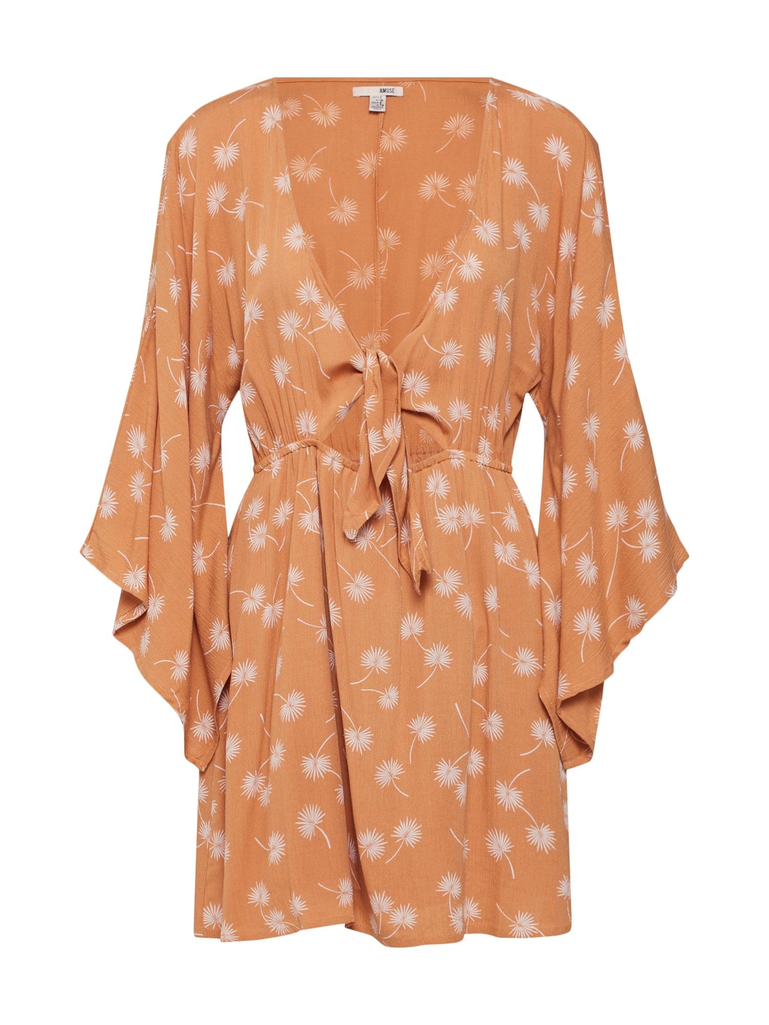 Letní šaty Clementina Dress oranžová Amuse Society