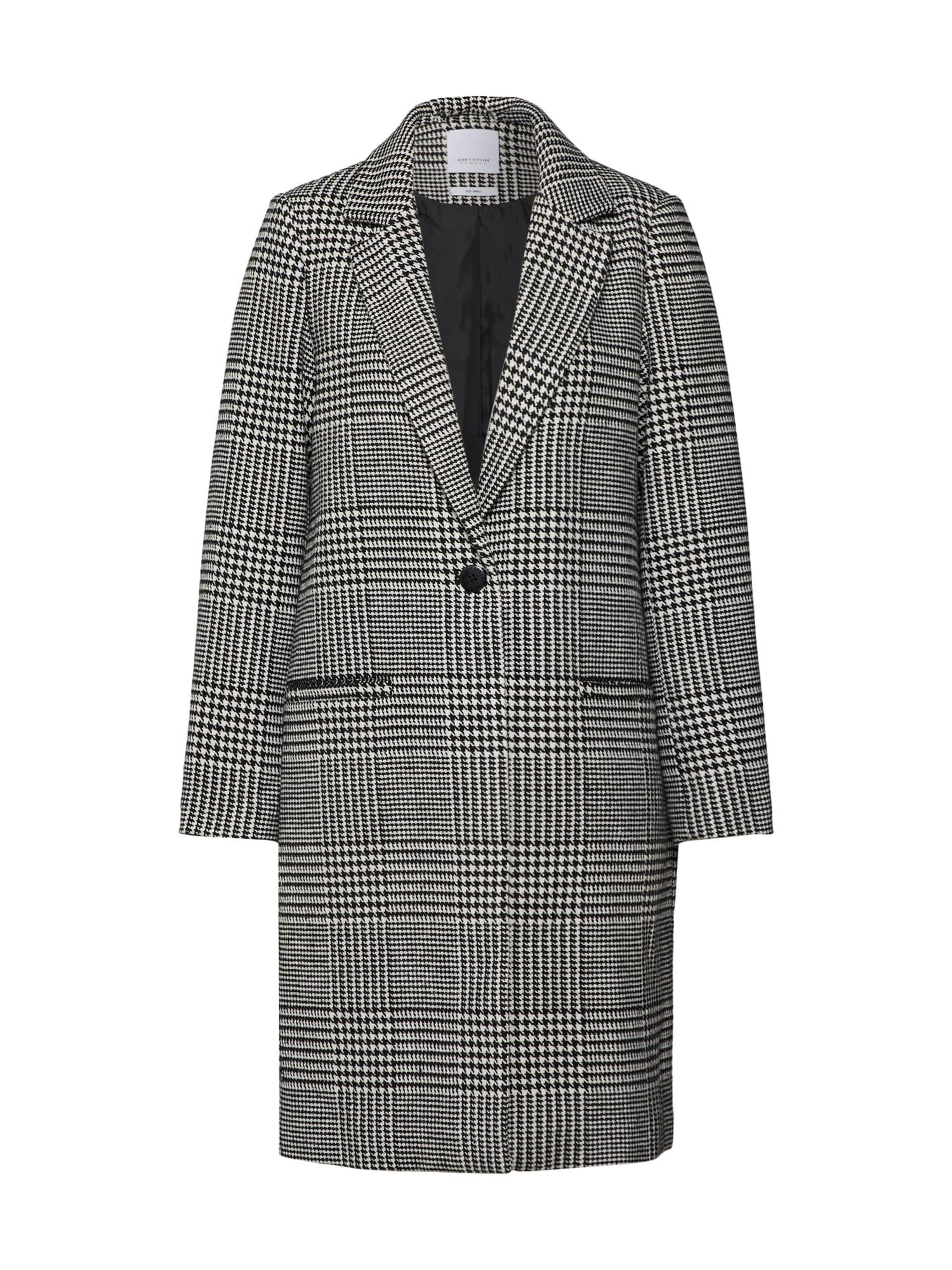 Přechodný kabát šedá bílá GREYSTONE