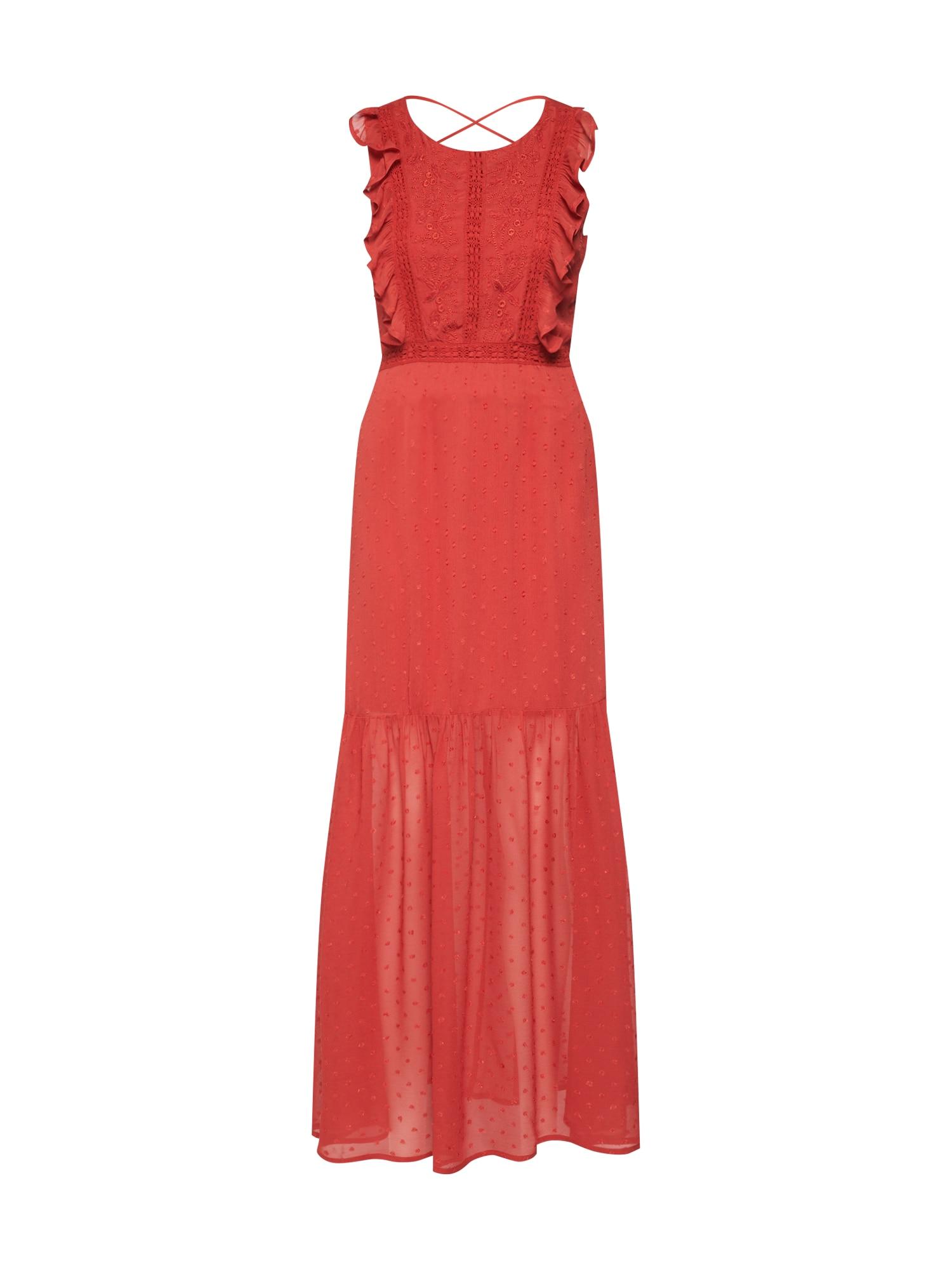 Společenské šaty YASFELINA SL ANKLE DRESS oranžově červená Y.A.S