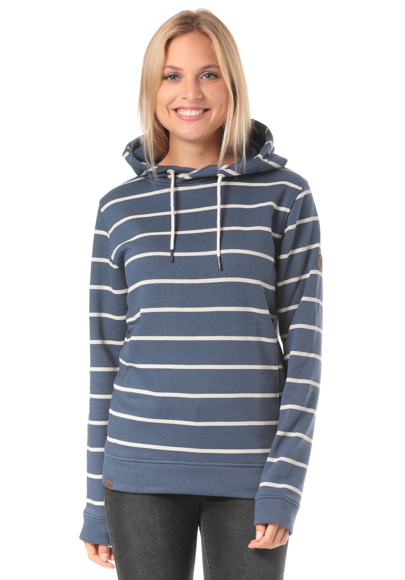 Kapuzenpullover 'Mara Striped K' | Bekleidung > Pullover > Kapuzenpullover | Blau | Lakeville Mountain