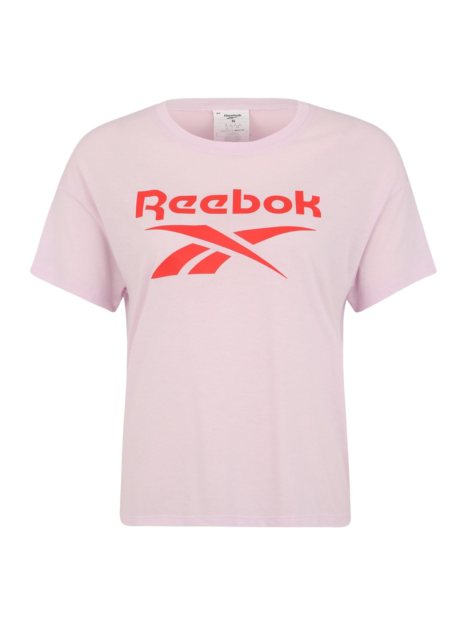 REEBOK Funkčné tričko  ružová / svetločervená