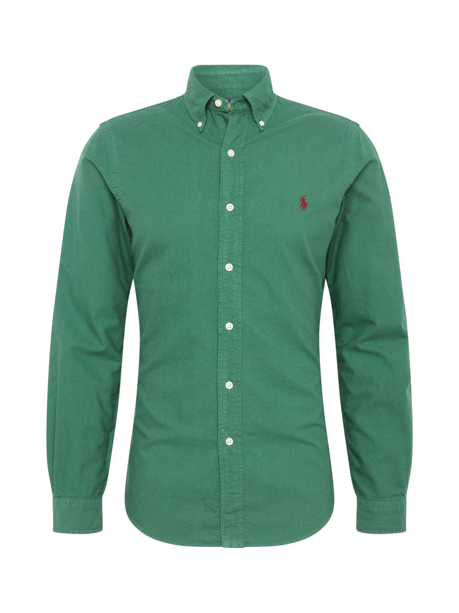 Košile GD OXFORD-SL BD PPC SPT tmavě zelená POLO RALPH LAUREN