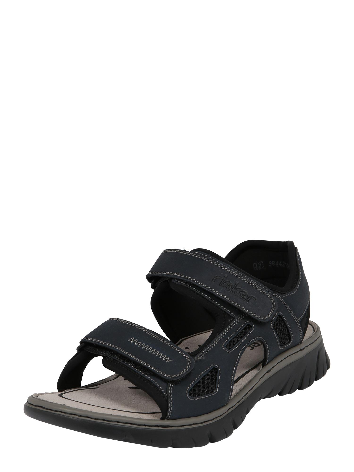 Trekingové sandály 26761-14 námořnická modř černá RIEKER