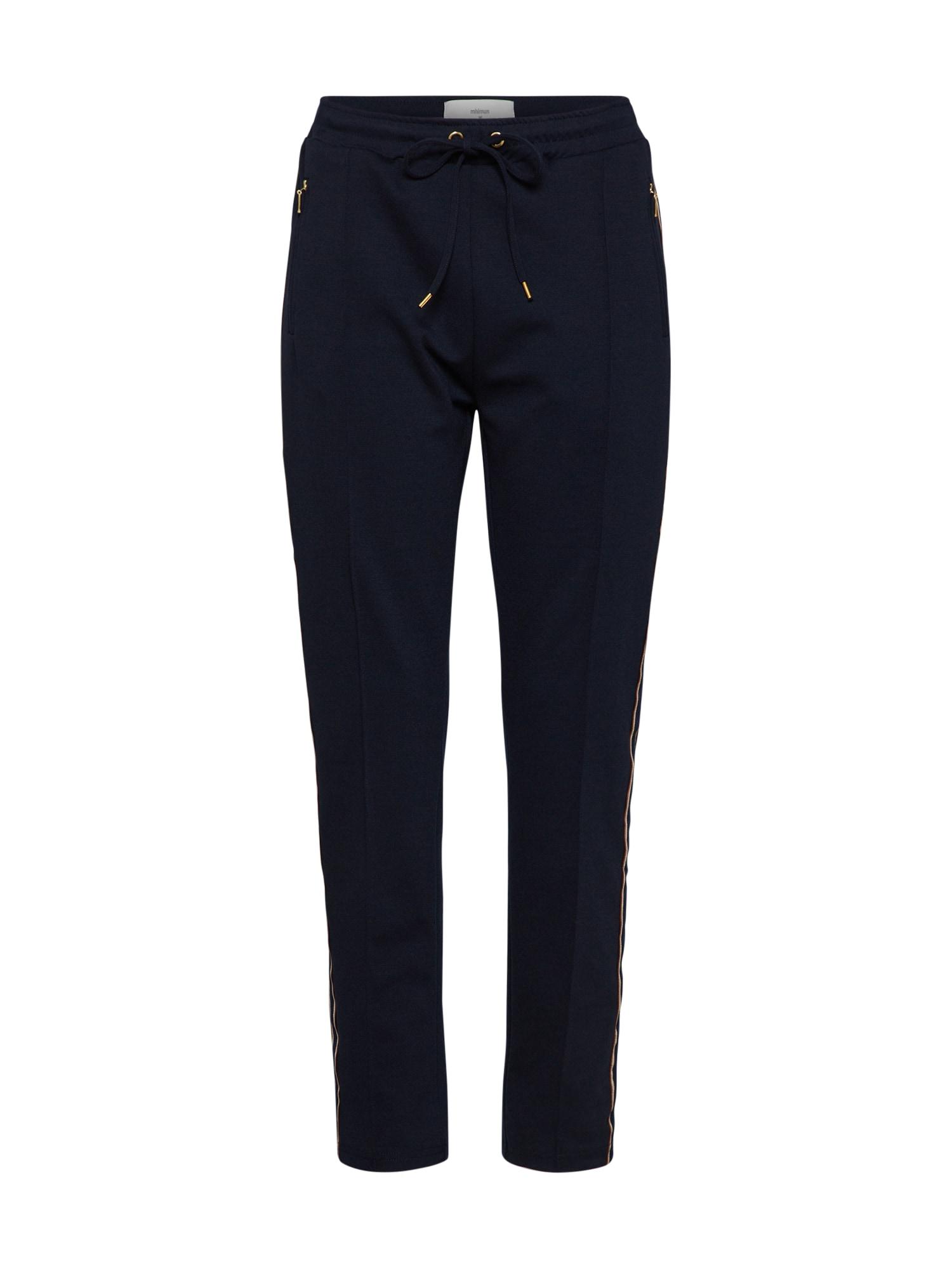 Kalhoty se sklady v pase Titta Pant námořnická modř Minimum