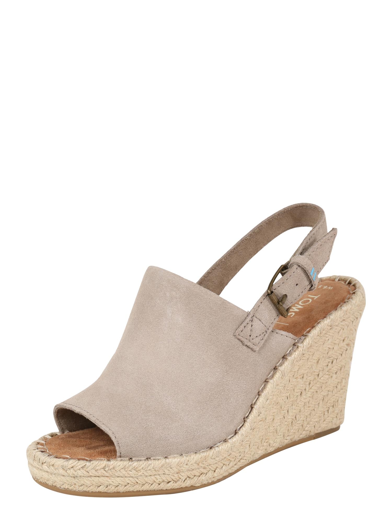 Páskové sandály MONICA béžová šedobéžová TOMS