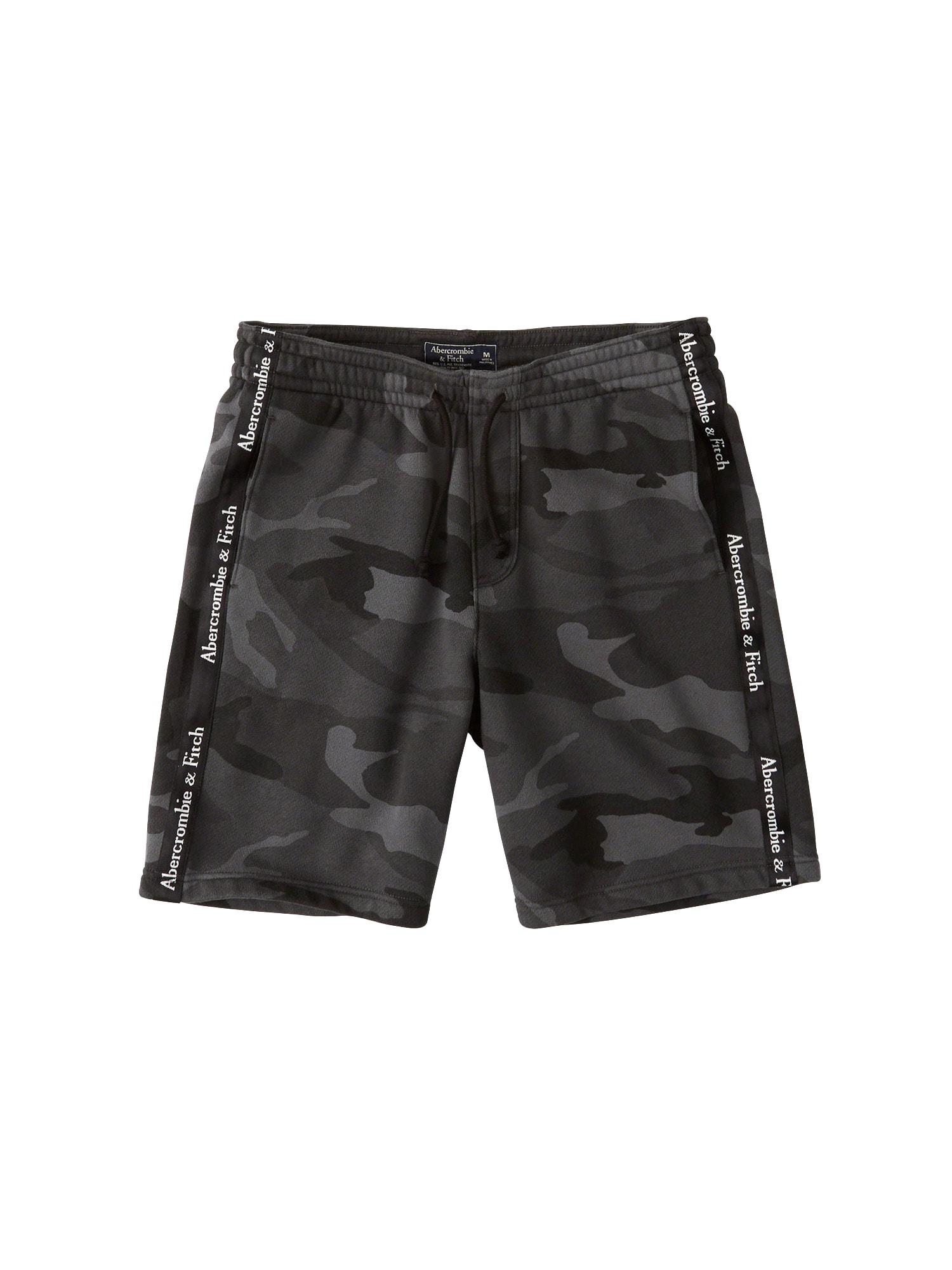 Kalhoty CAMO R06 antracitová černá Abercrombie & Fitch