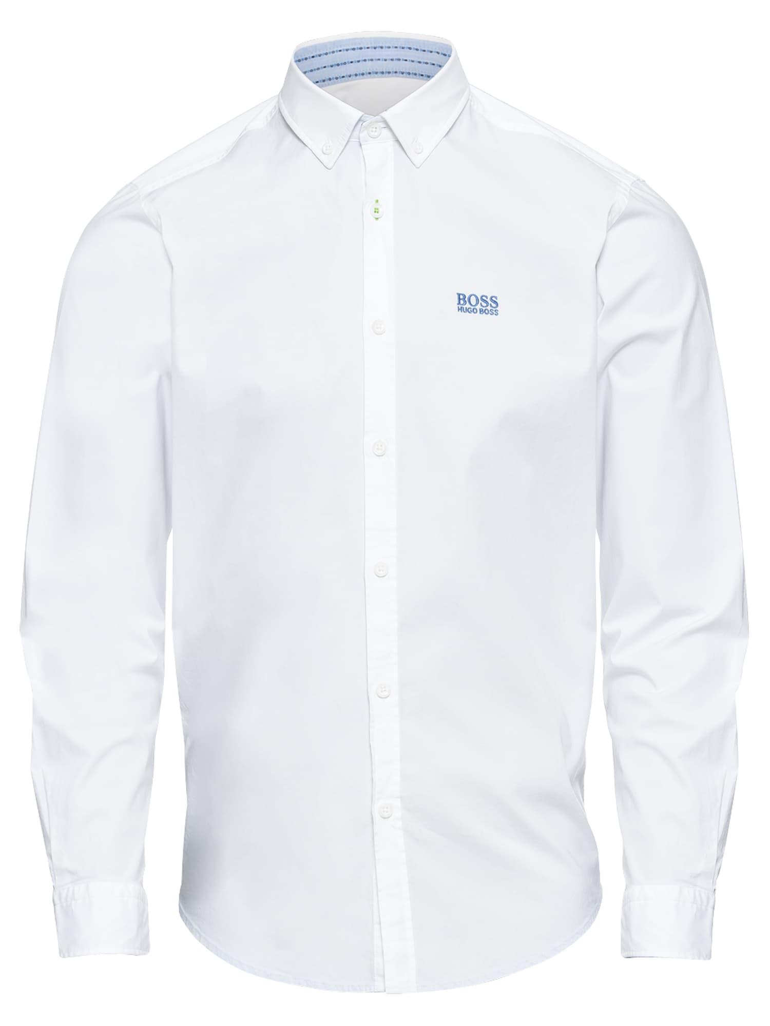 Společenská košile BIADO_R 10205714 02 bílá BOSS