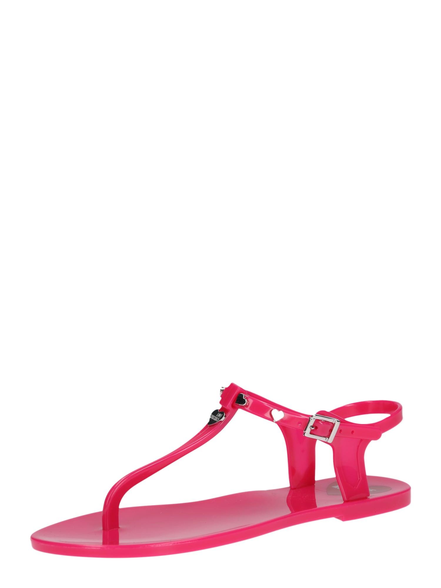 Žabky JA16031G17 - FAB. IU0 pink Love Moschino