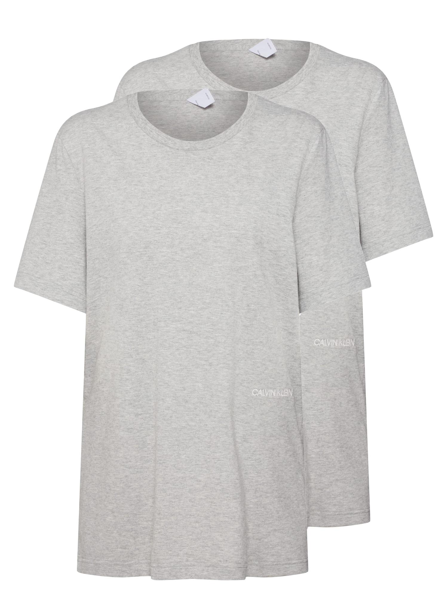 Tričko na spaní SS CREW NECK 2PK šedá Calvin Klein Underwear