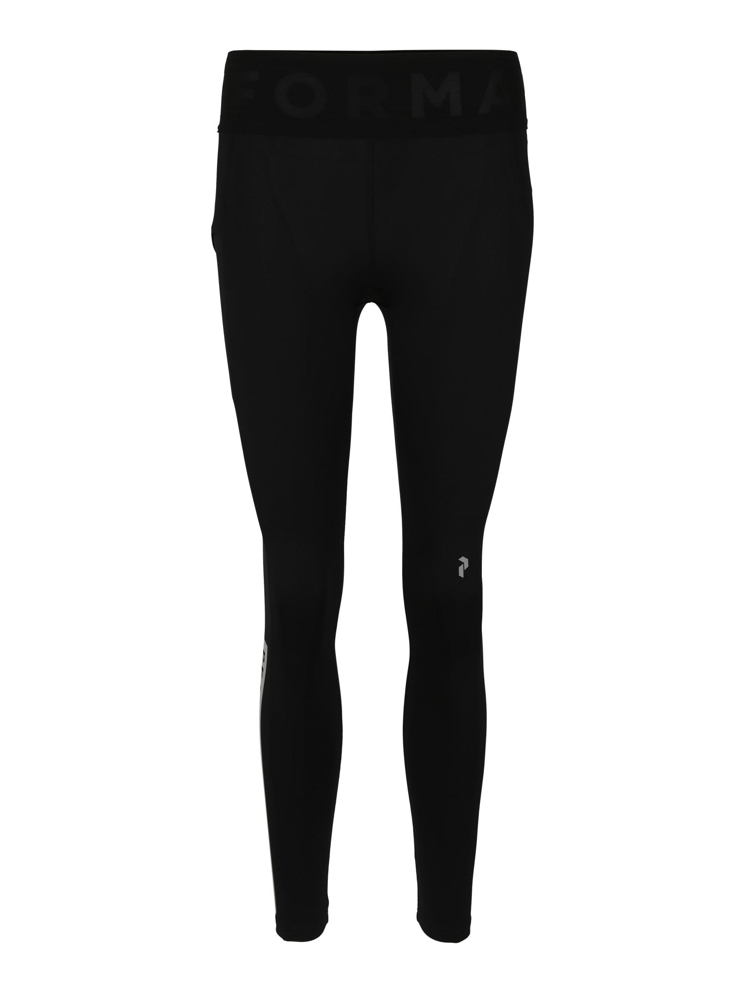 Sportovní kalhoty REVEL stříbrně šedá černá PEAK PERFORMANCE