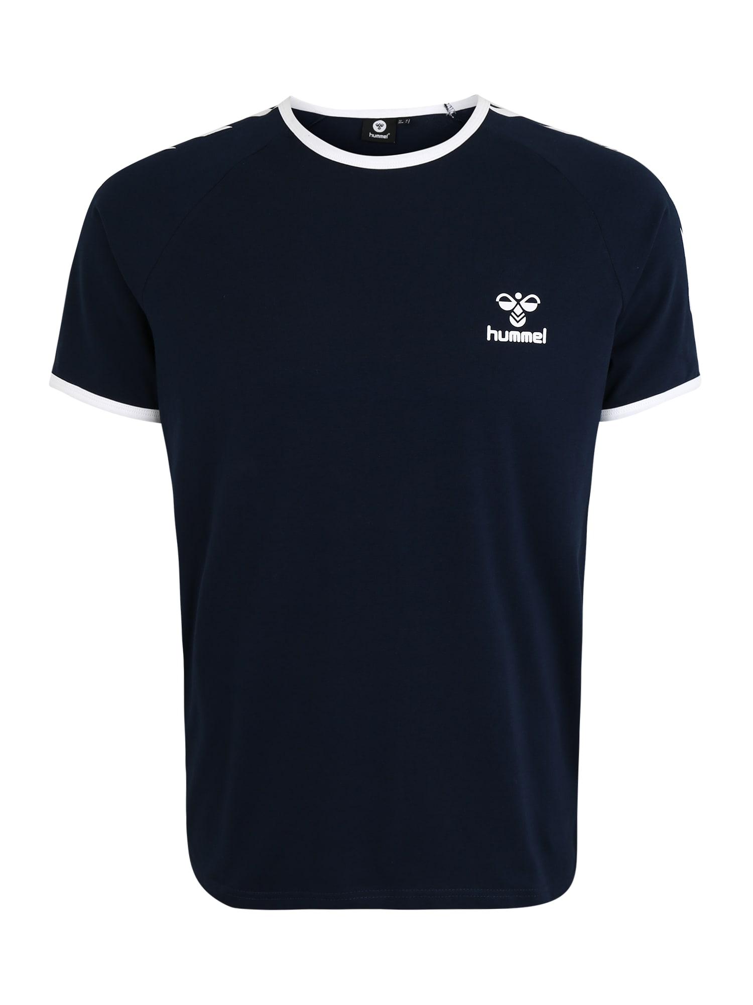 Hummel Funkční tričko 'JIMMY'  bílá / tmavě modrá