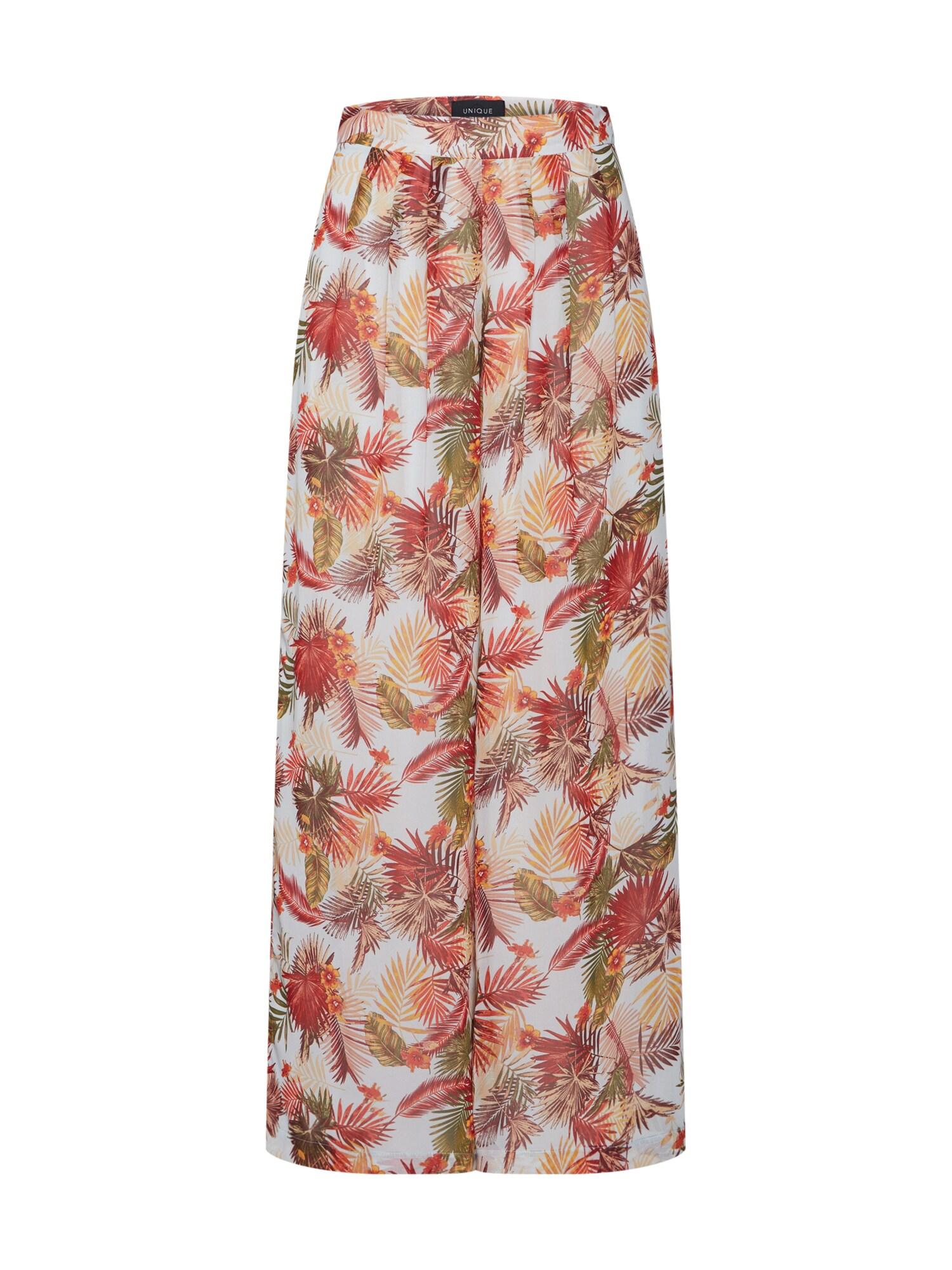 Kalhoty se sklady v pase onqCORRIE HW DRAPY PALAZZO PANTS WVN červená ONLY