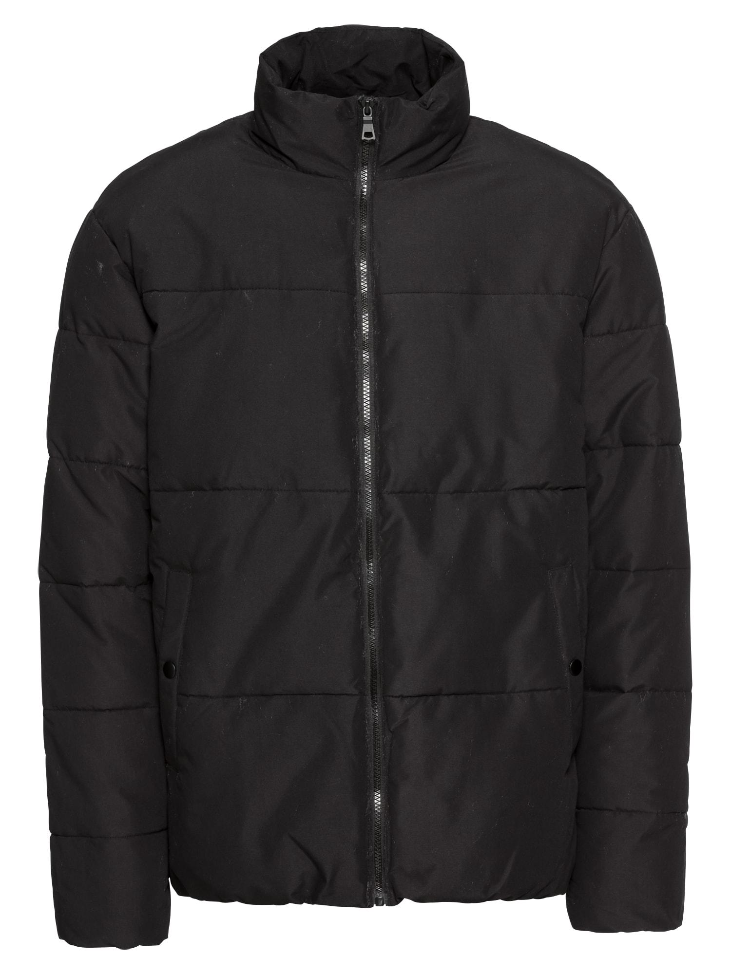 Přechodná bunda nylon padded jacket černá KIOMI