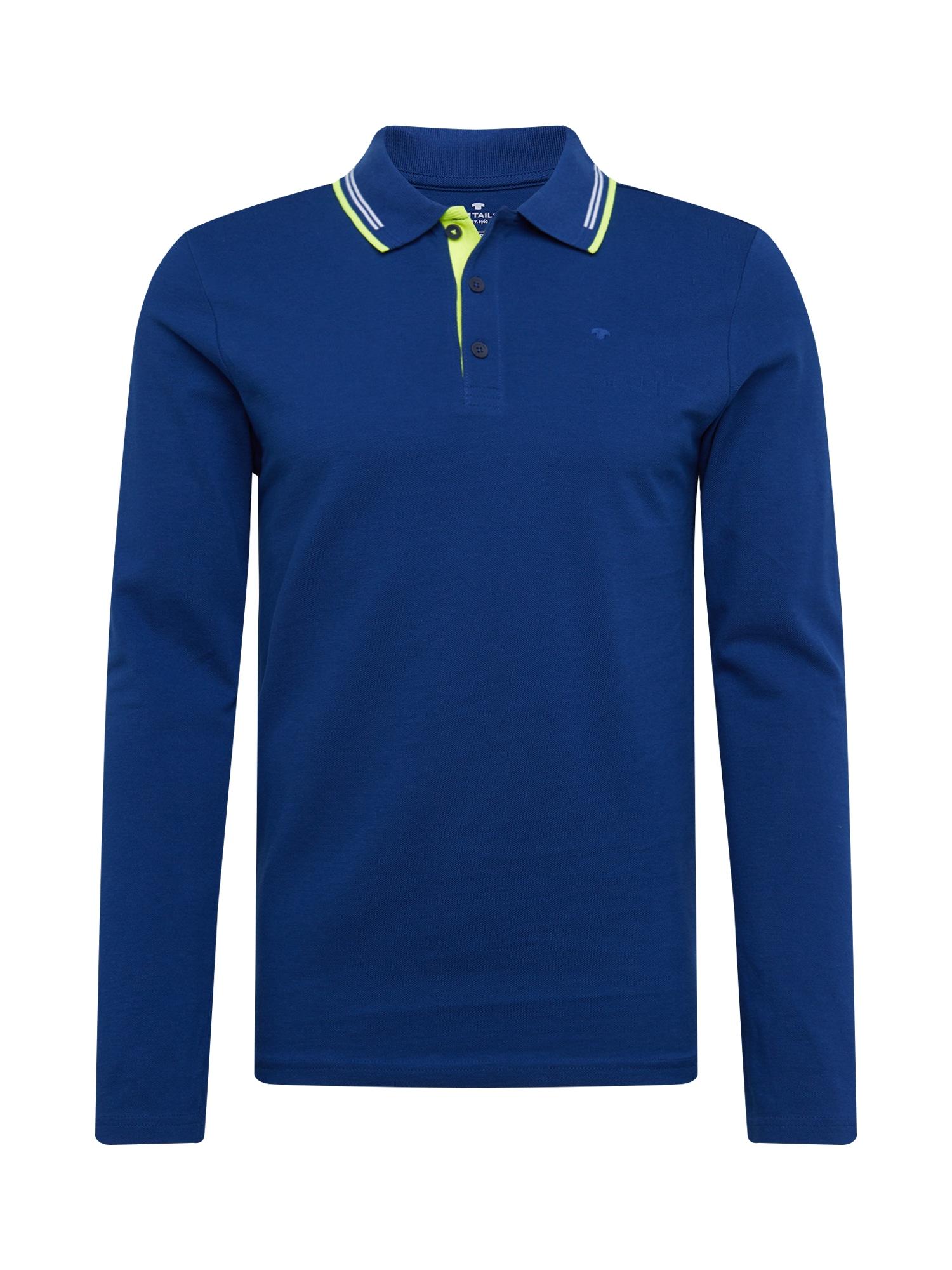 TOM TAILOR Tričko  modrá / bílá / svítivě zelená