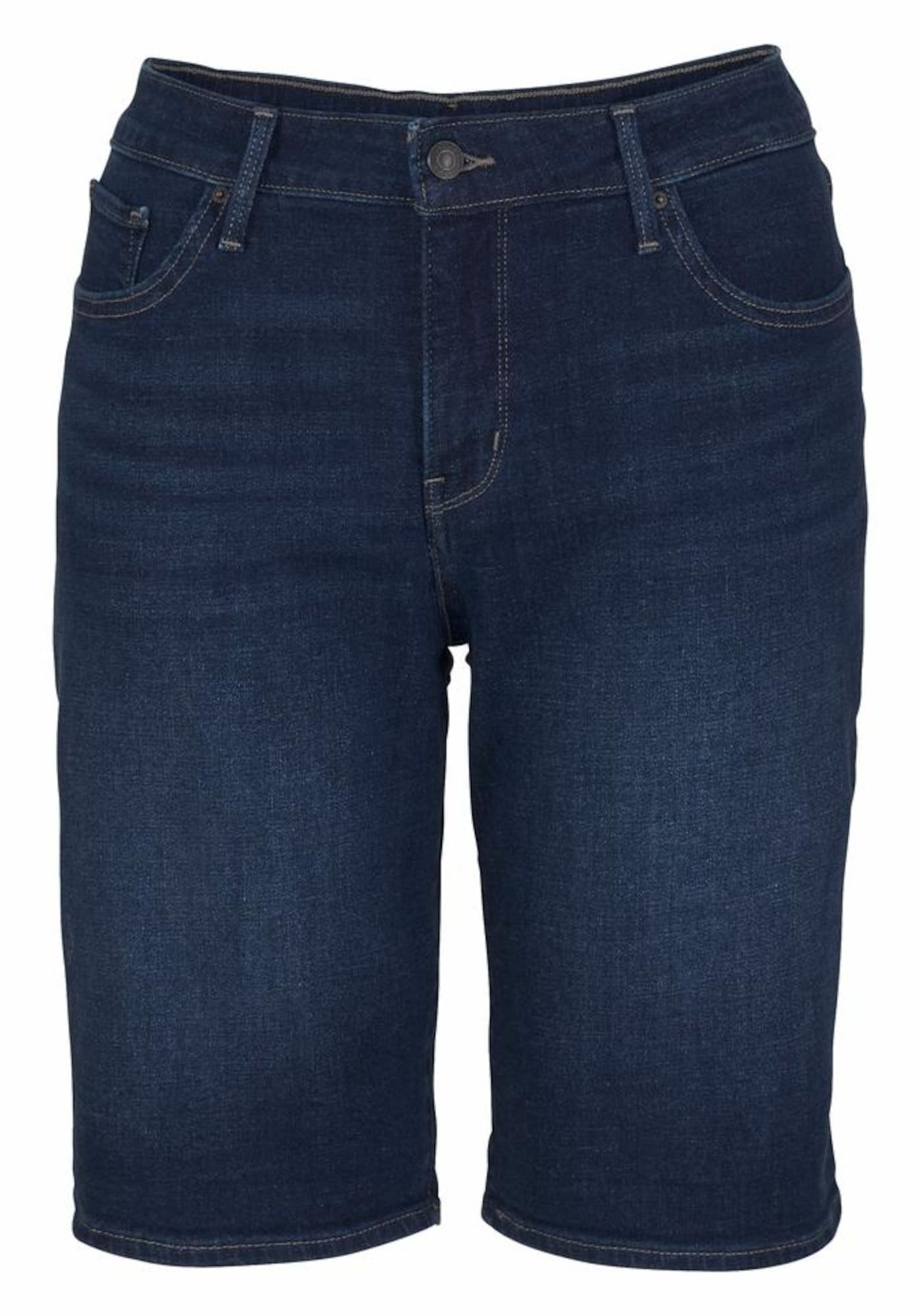 LEVI'S Dames Jeans PL Shaping Bermuda donkerblauw