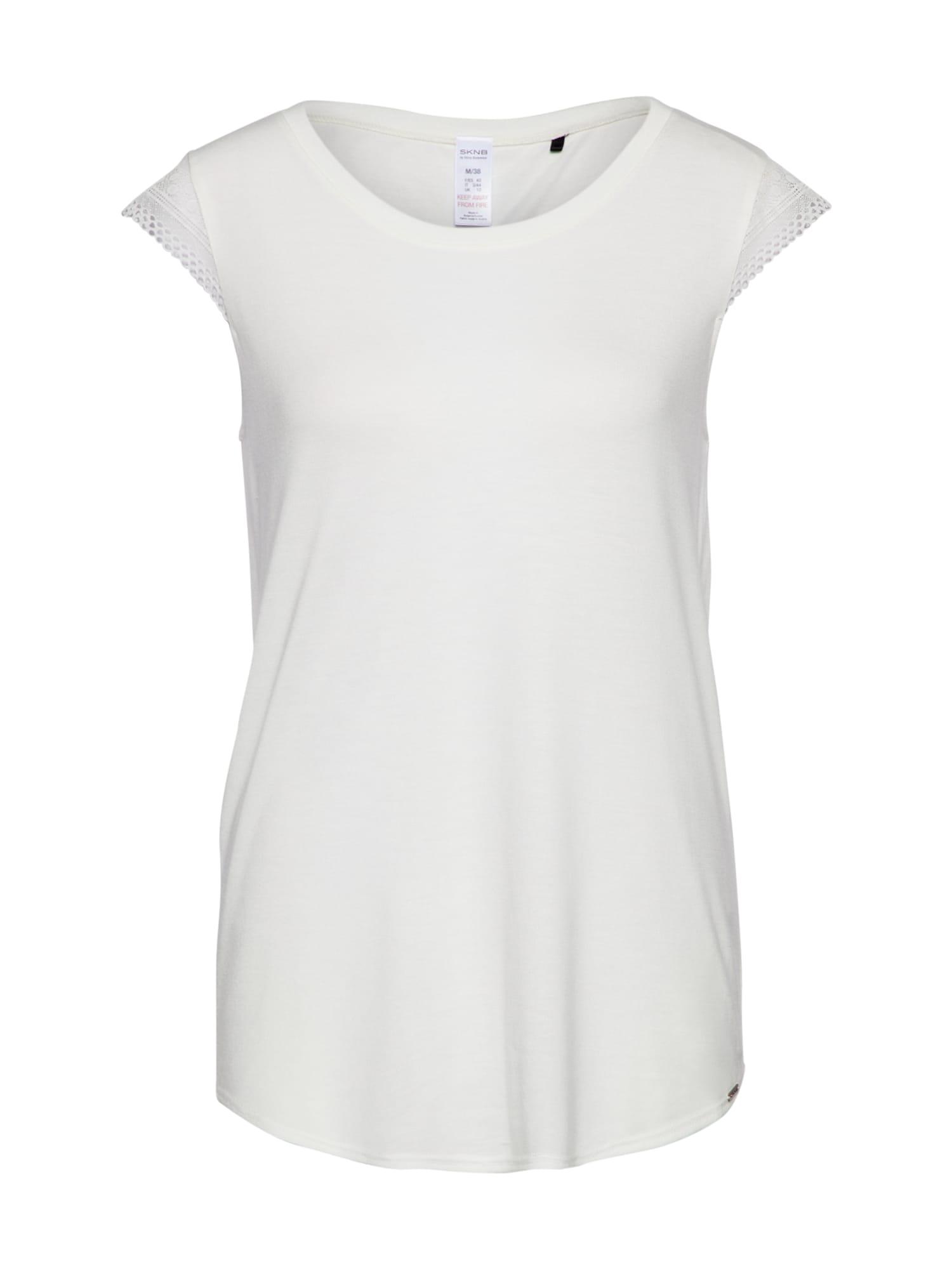Tričko na spaní bílá Skiny