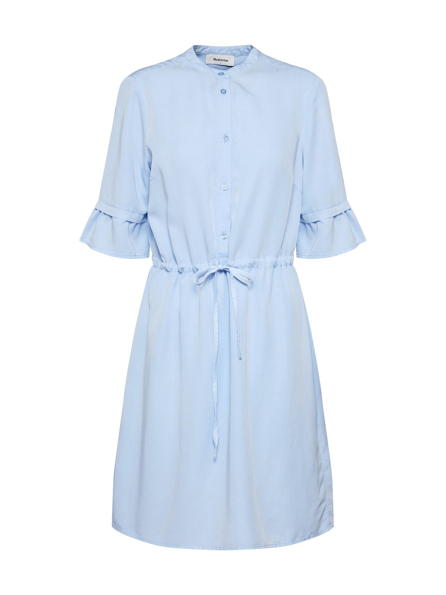 Košilové šaty Ocean modrá Modström