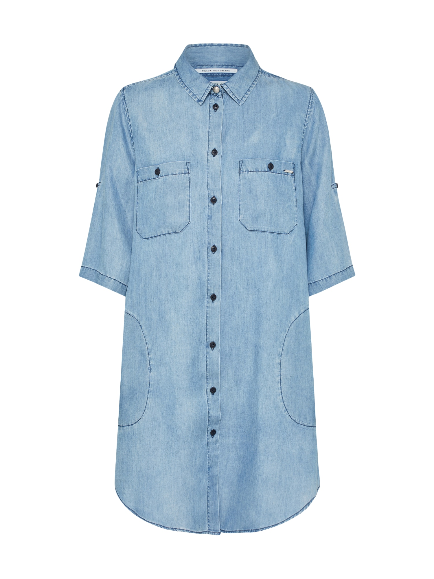 REPLAY Dames Blousejurk blue denim