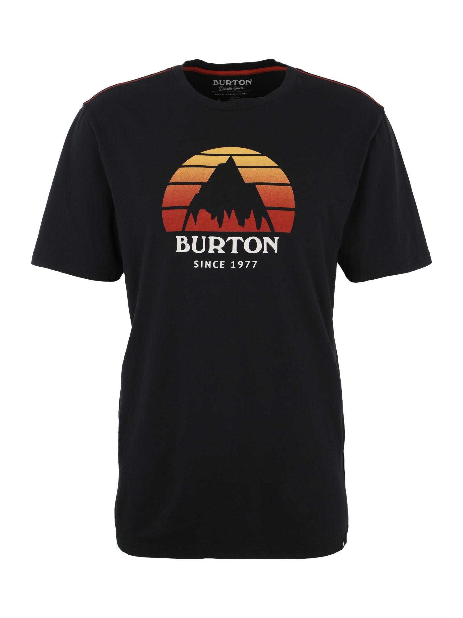 Funkční tričko Underhill jasně oranžová oranžově červená černá bílá BURTON