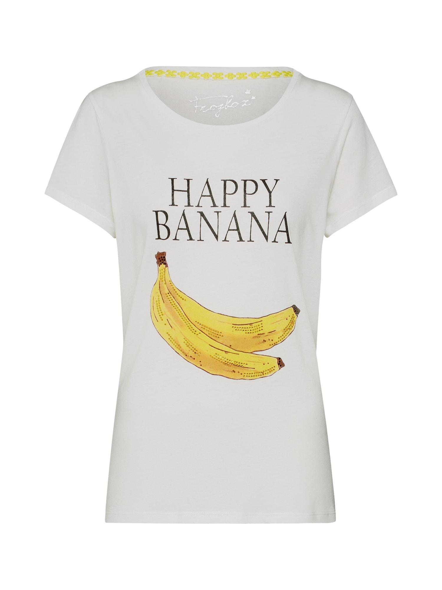 Tričko Shirt with banana print bílá Frogbox